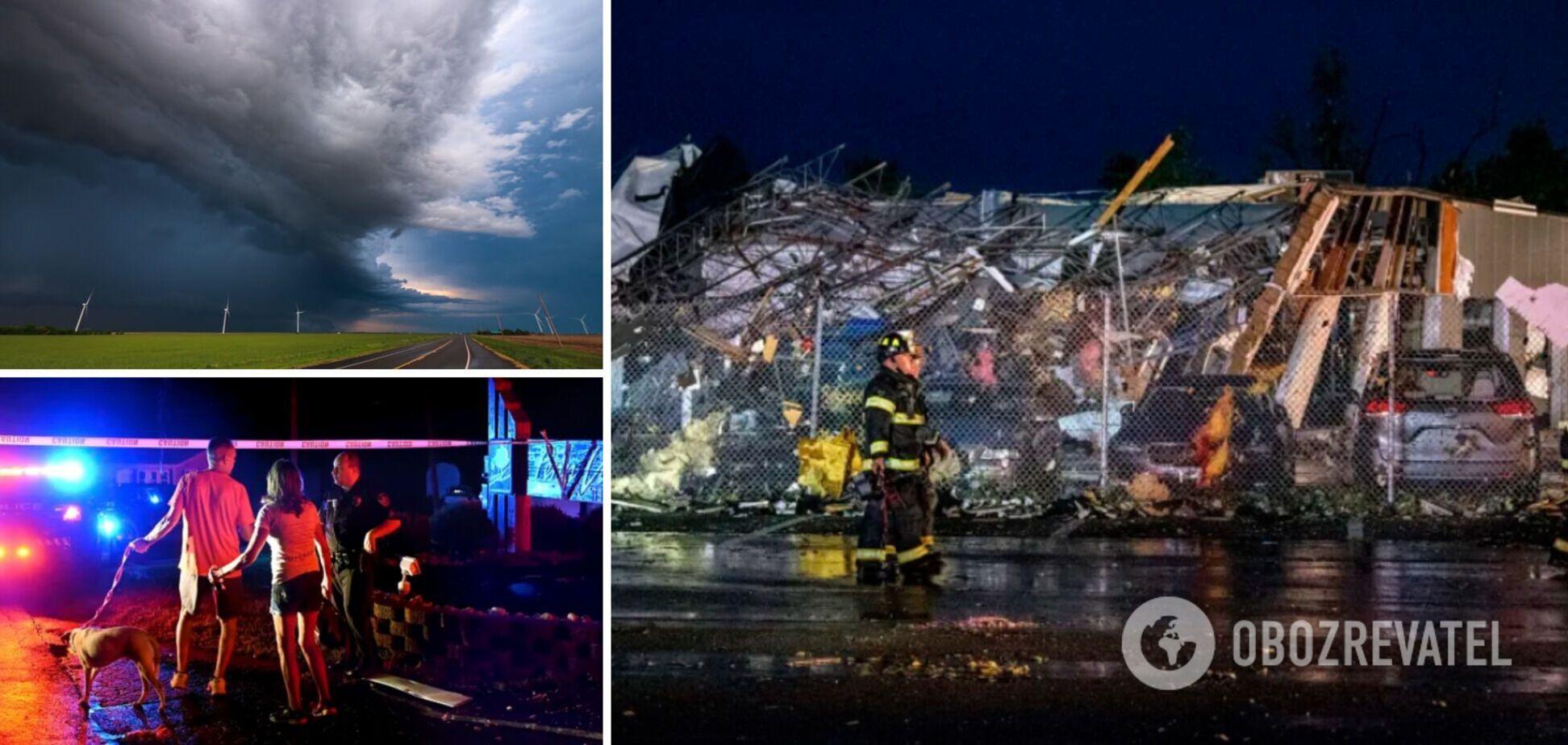 В США мощный торнадо срывал крыши зданий и валил деревья, есть пострадавшие. Фото и видео