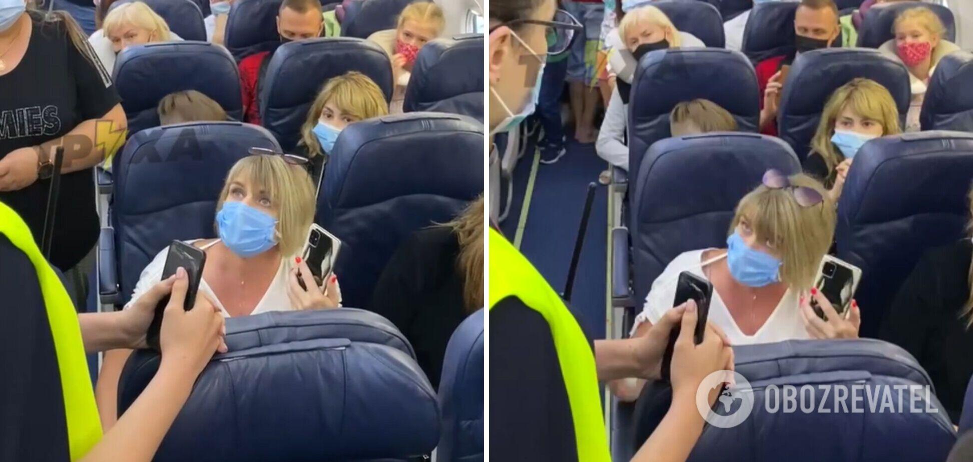 Женщина отказалась надеть маску и устроила скандал