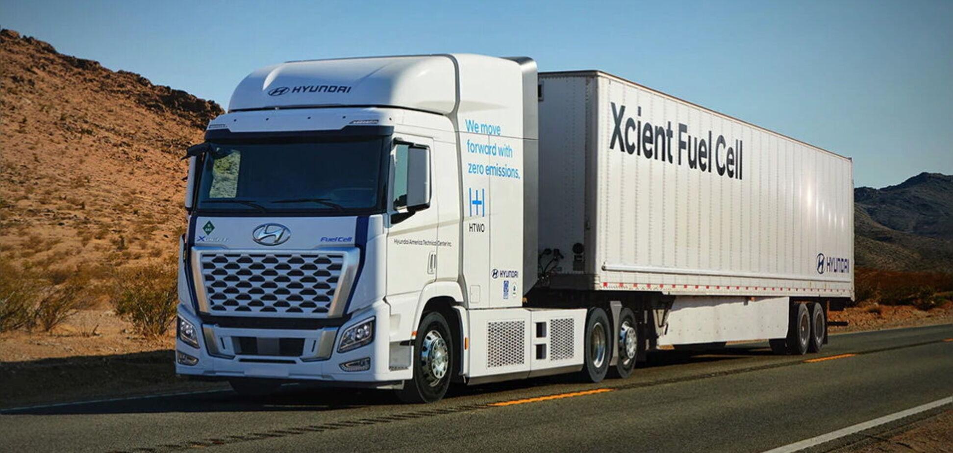 Hyundai запропонує для ринку США магістральні тягачі на водні