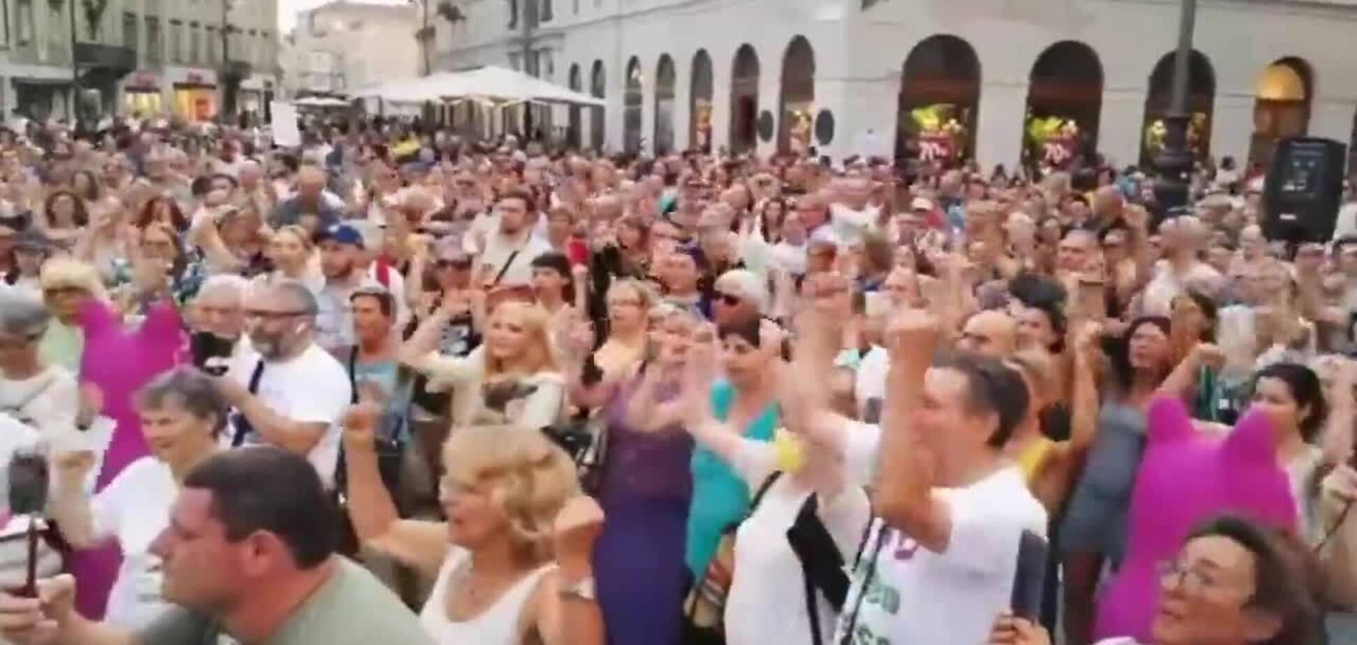 В Італії проходять мітинги проти ковідних сертифікатів