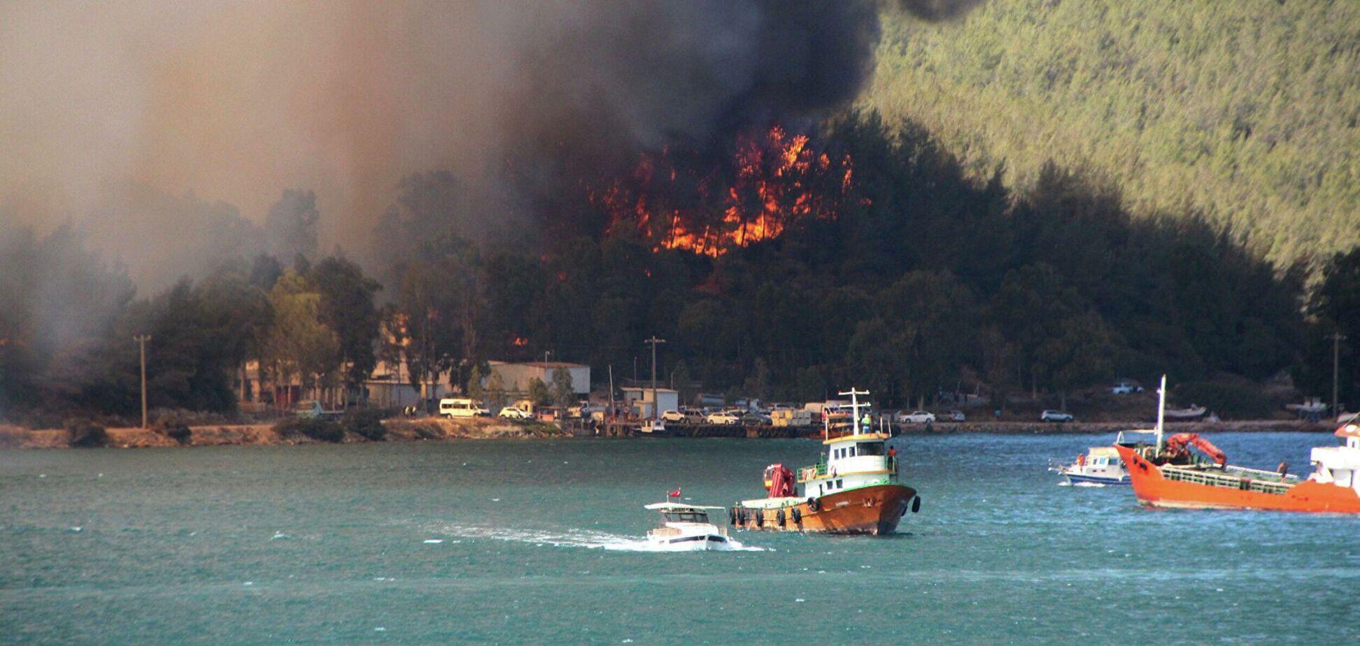 Пожары в Турции достигли Бодрума