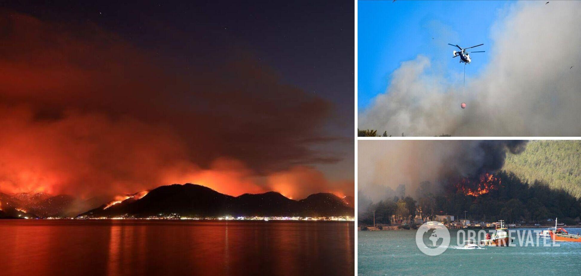 В Турции районы лесных пожаров объявили зонами бедствия: число погибших возросло. Видео