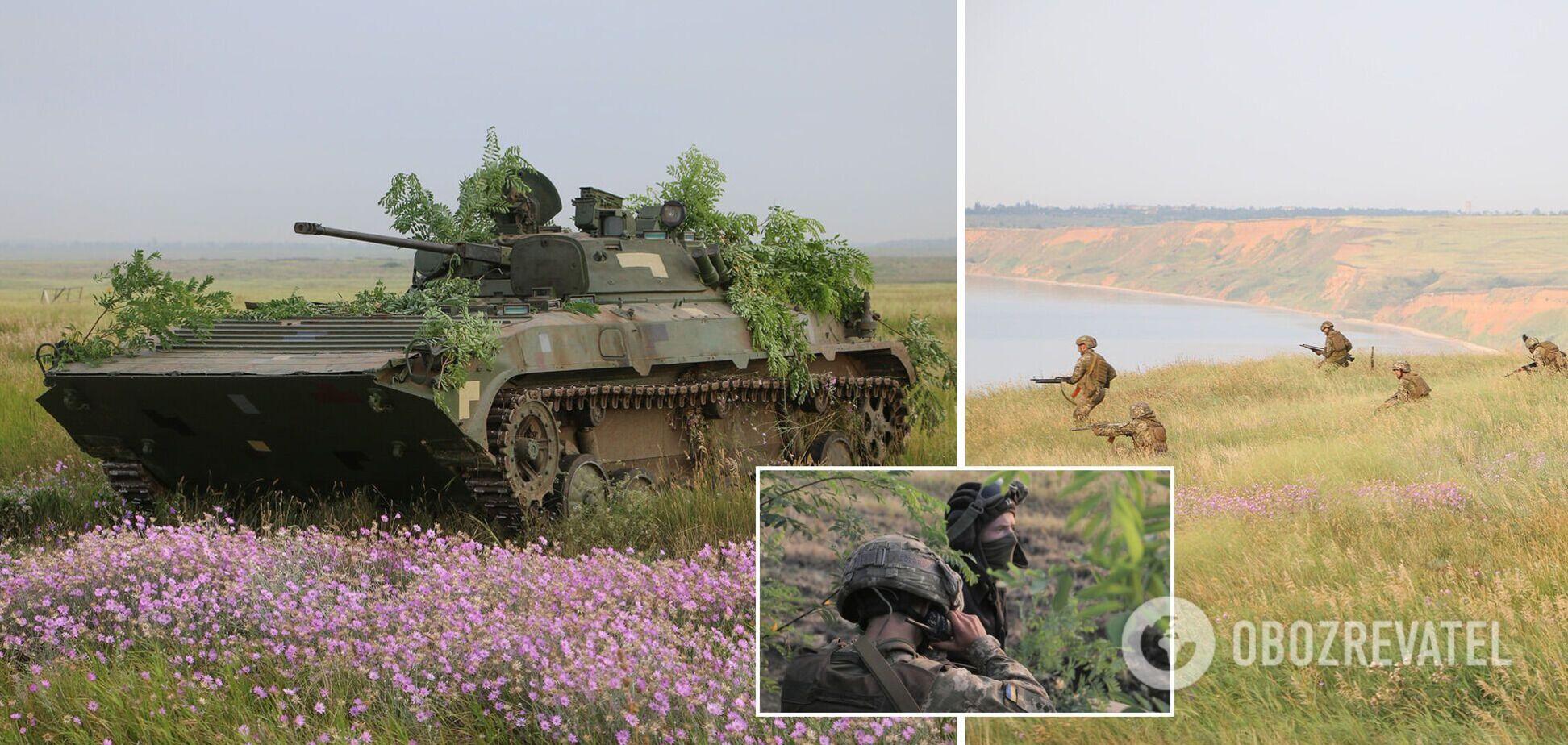 ВСУ в зоне ООС отработали удары по морскому десанту противника. Фото