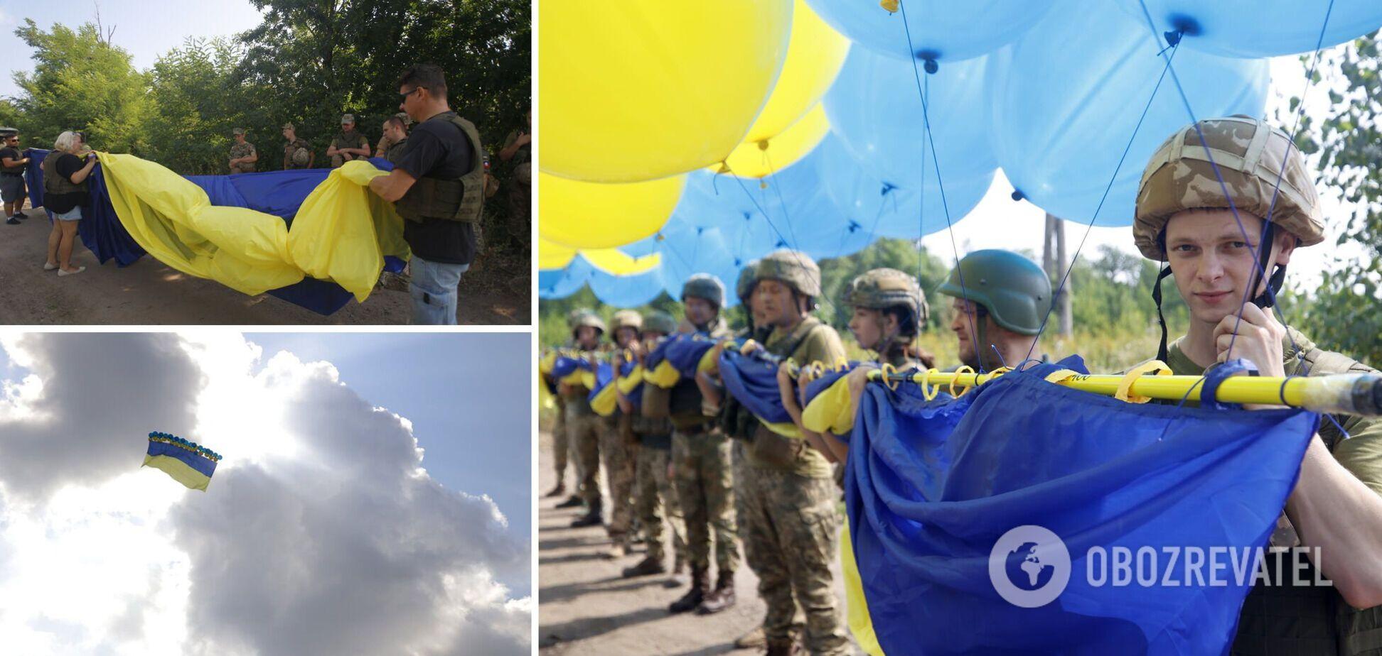 У серце 'ДНР' відправили величезний прапор України. Фото