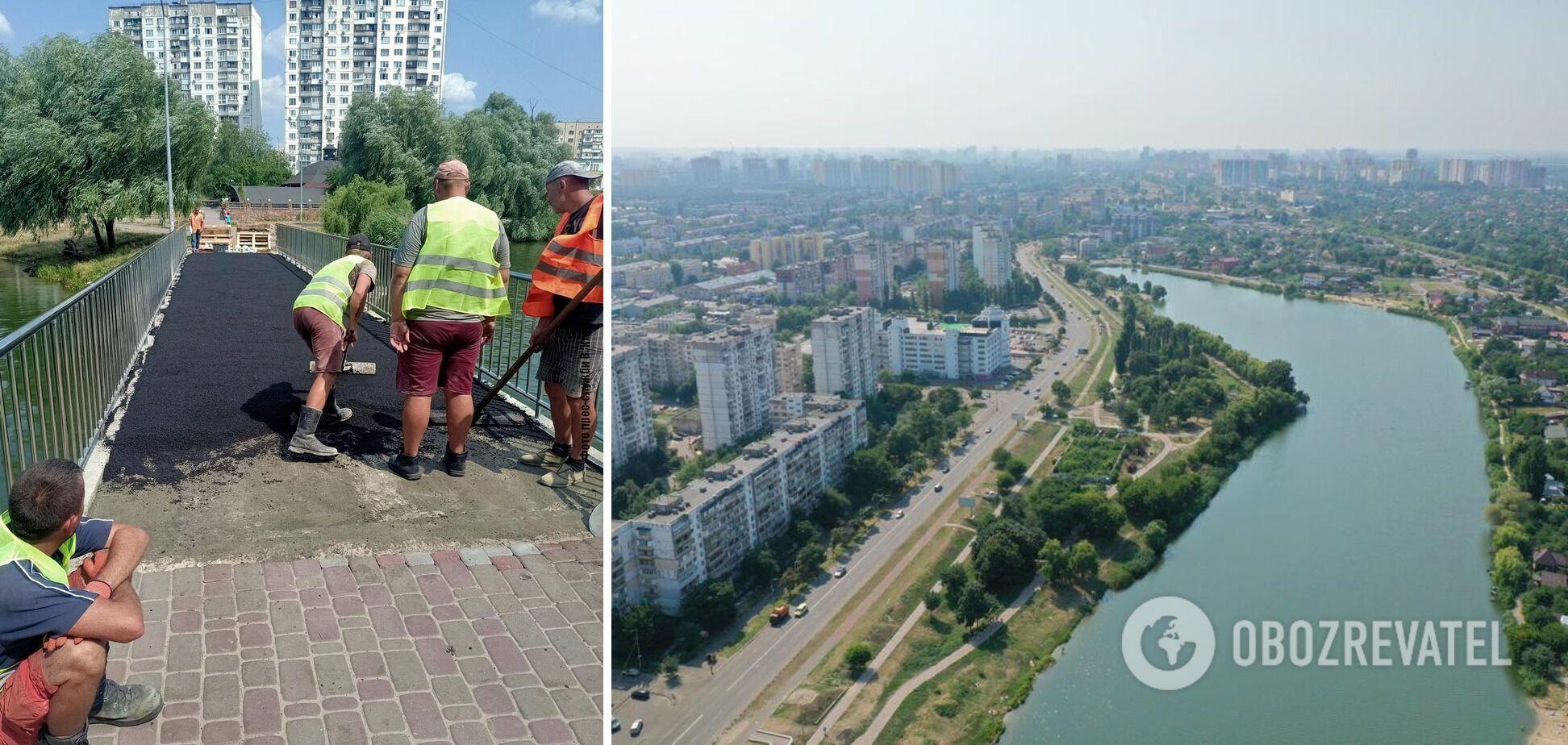 Кличко показал, как ремонтируют парк 'Радунка' в Киеве. Видео