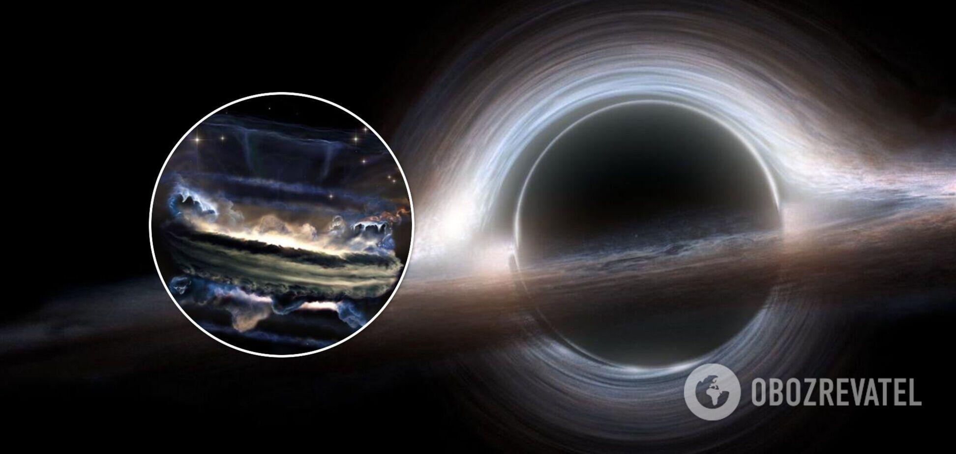 В NASA показали, как выглядит цунами внутри черной дыры. Фото