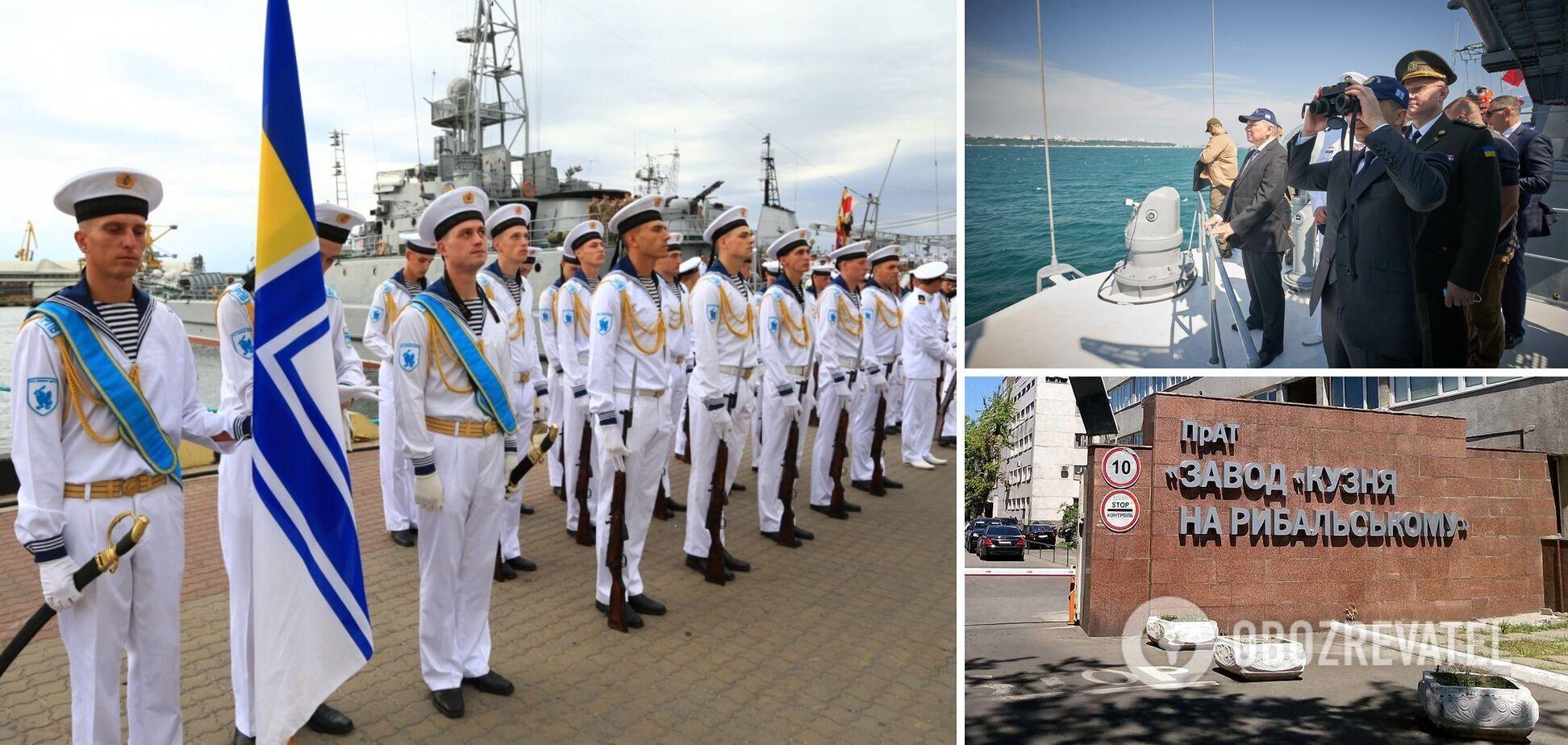 'Кузня на Рибальському' привітала ВМС зі святом і розповіла про будівництво нових кораблів