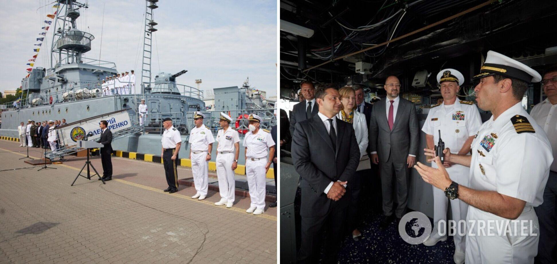 Зеленський побував на борту американського ракетного есмінця. Фото