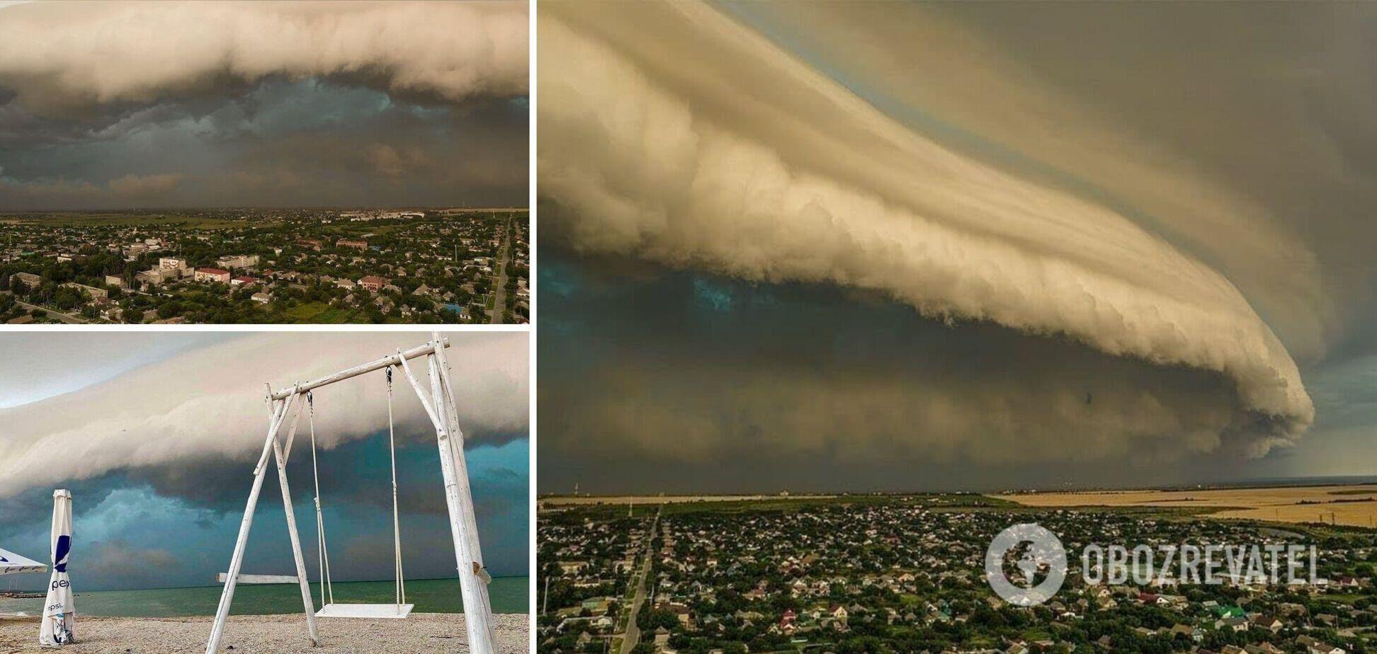 Над Азовським морем пронеслось повітряне цунамі. Фото та відео красивого явища