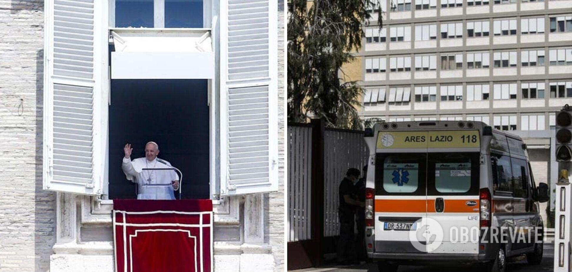 Папа Римський Франциск переніс хірургічну операцію