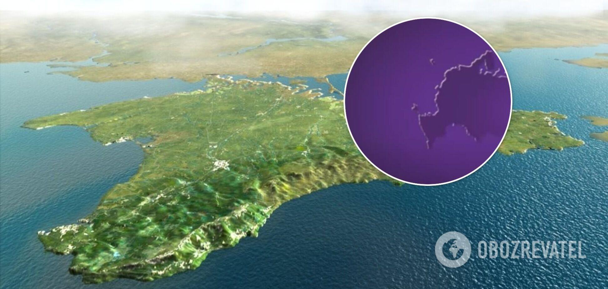 Український телеканал показав карту РФ з окупованим Кримом. Фото