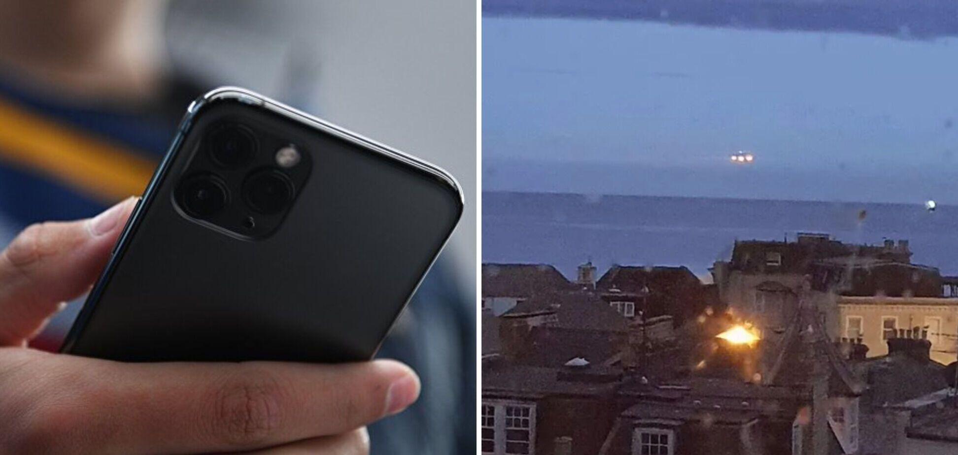 В Британии студент снял НЛО в ночном небе. Фото