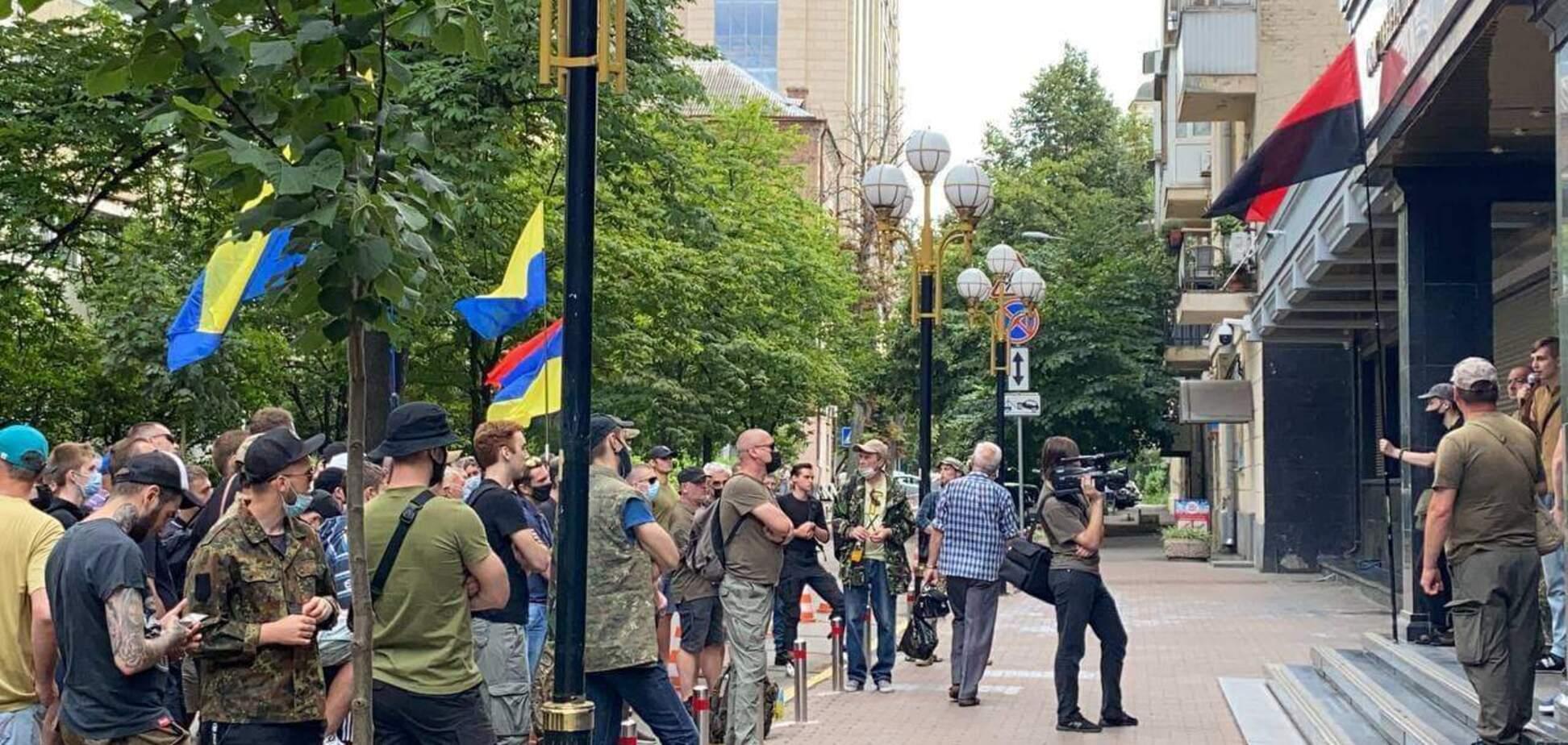 Ветераны АТО устроили акцию