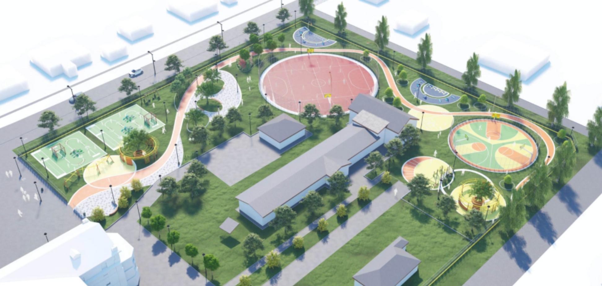 В Днепровской школе №122 появится уникальный спортивный комплекс