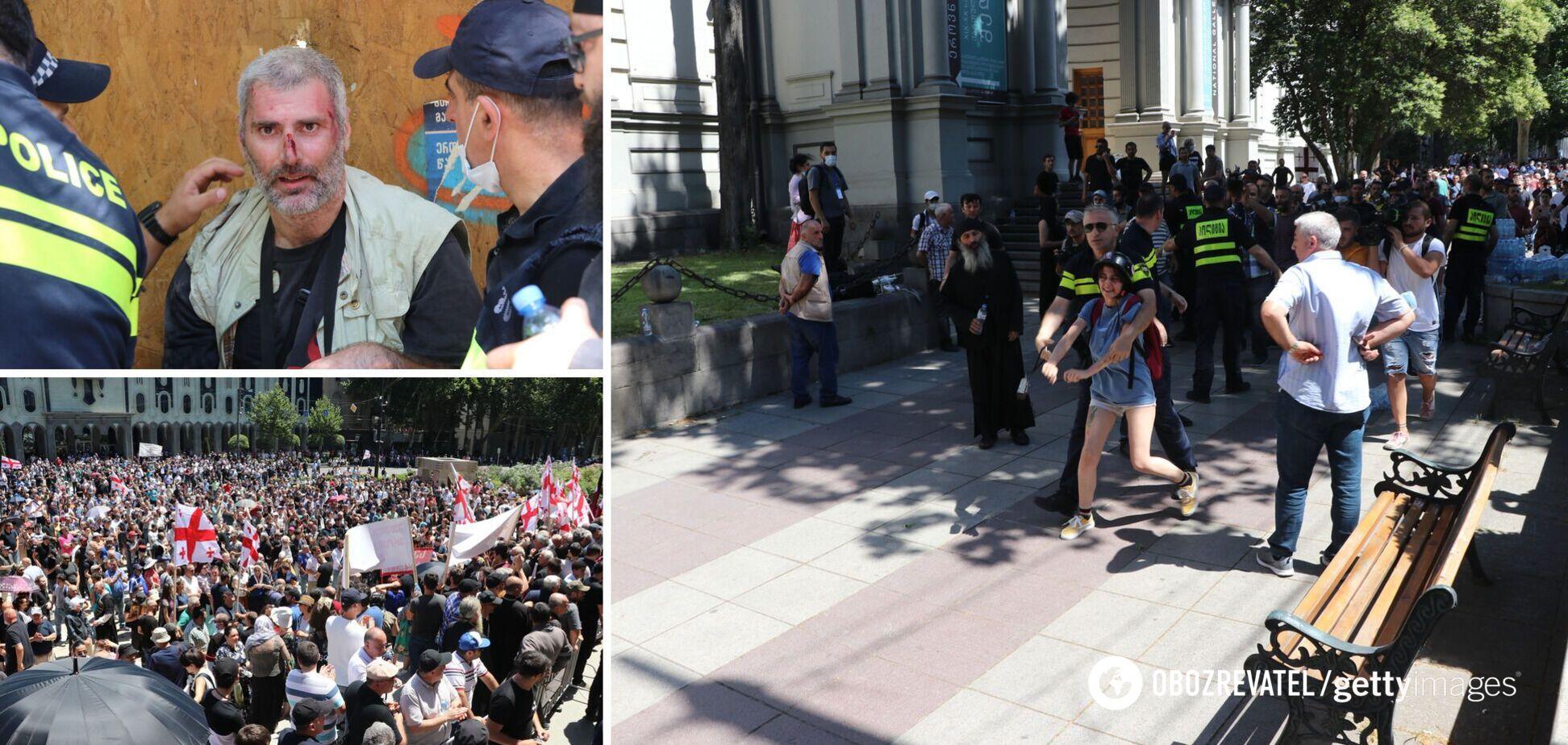В Грузии отменили ЛГБТ-прайд после массовых беспорядков: на журналистов устроили охоту и бросили взрывчатку. Фото и видео