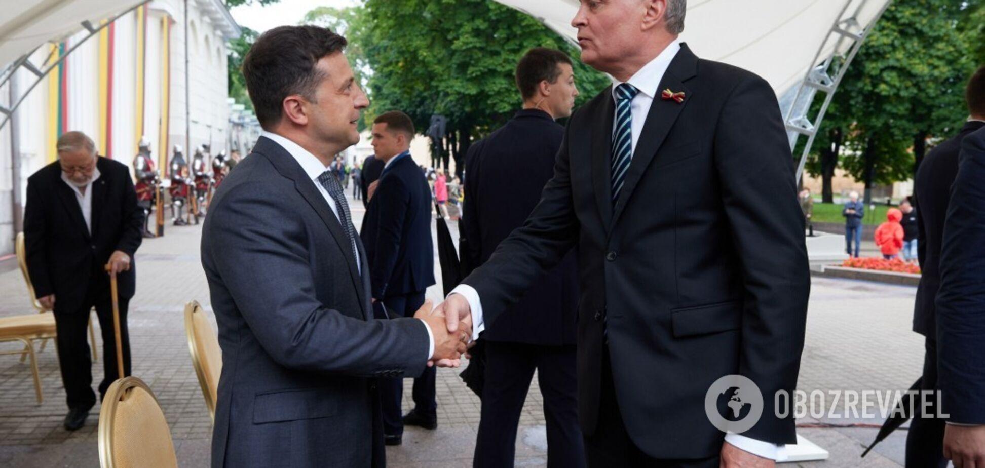 Зеленський під час візиту в Литву: у нас немає спільного кордону, але є спільні цінності й інтереси