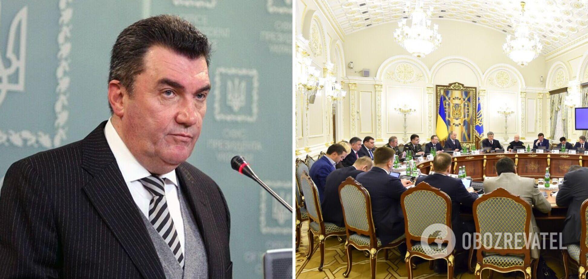 Данилов о фигурантах санкционного списка СНБО: 'порешать' ни у кого не выйдет