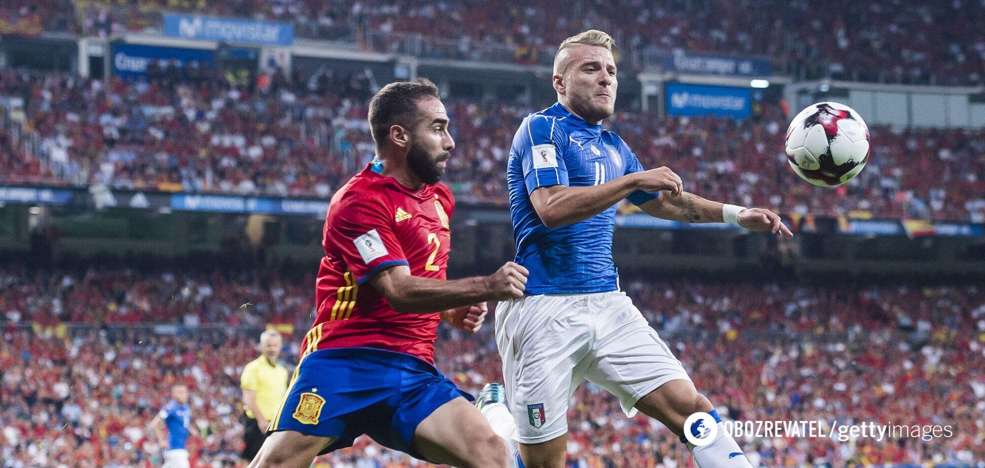 Матч Италия - Испания в отборе на ЧМ-2018