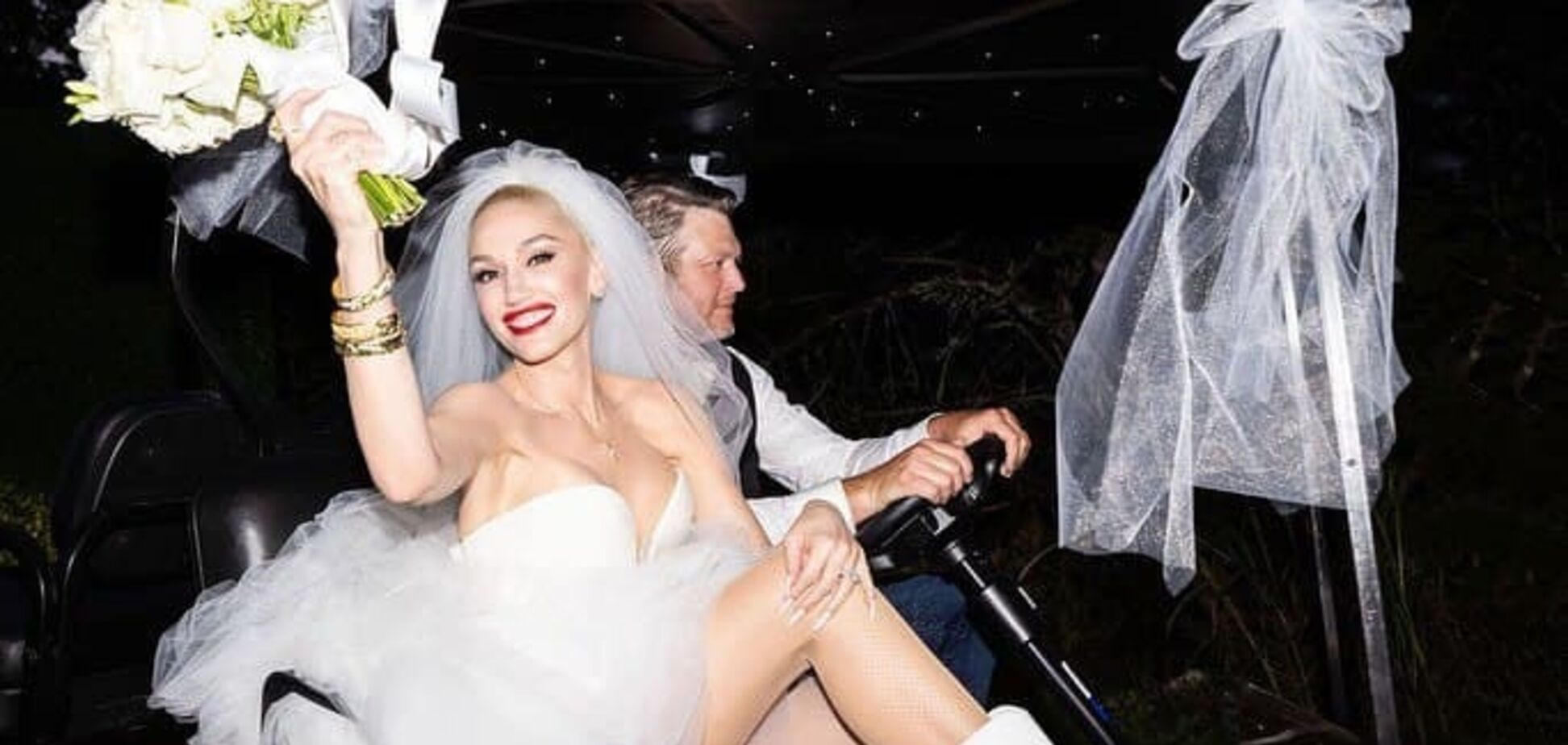 Гвен Стефані показала весільні знімки