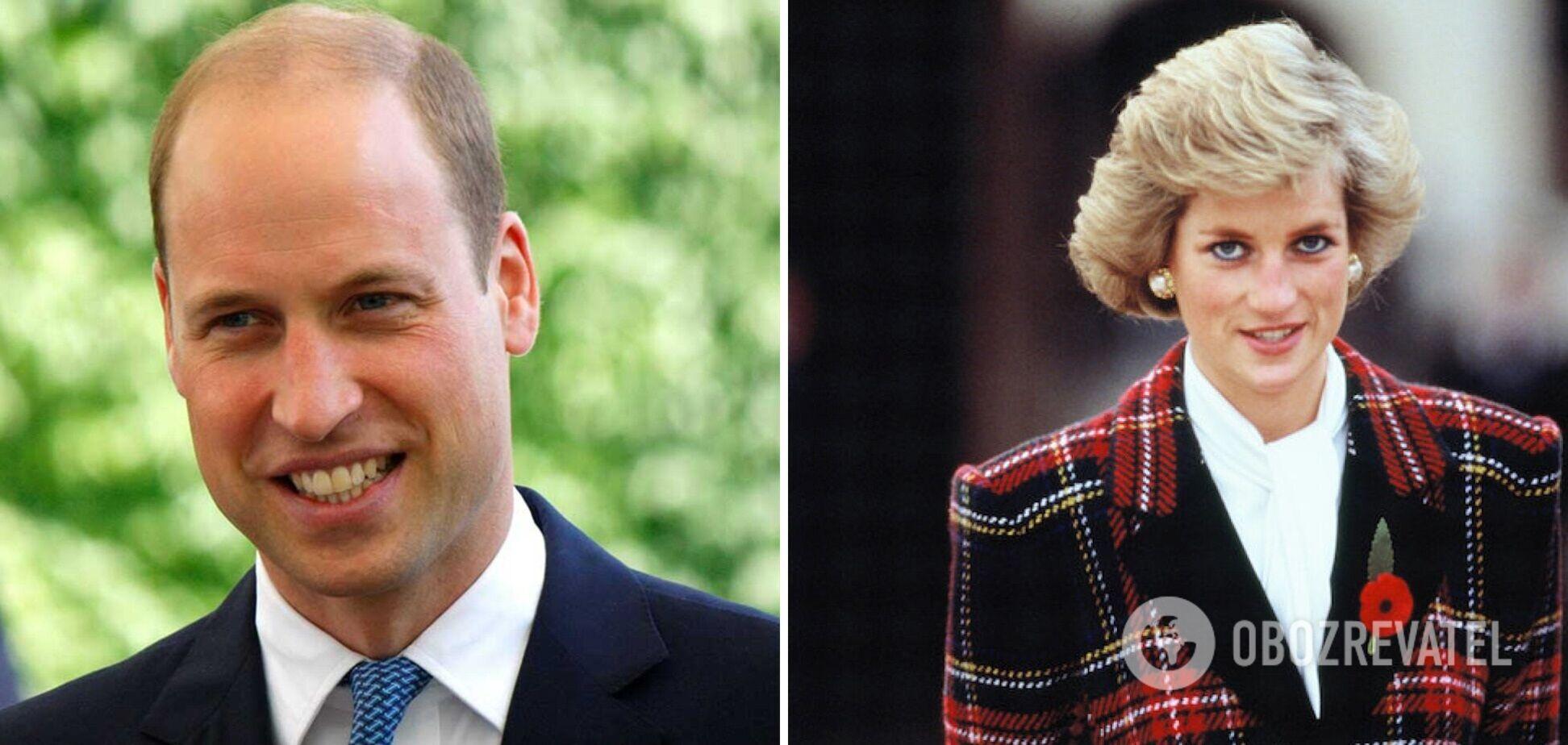 Що принц Вільям успадкував від принцеси Діани: названо дві особливості