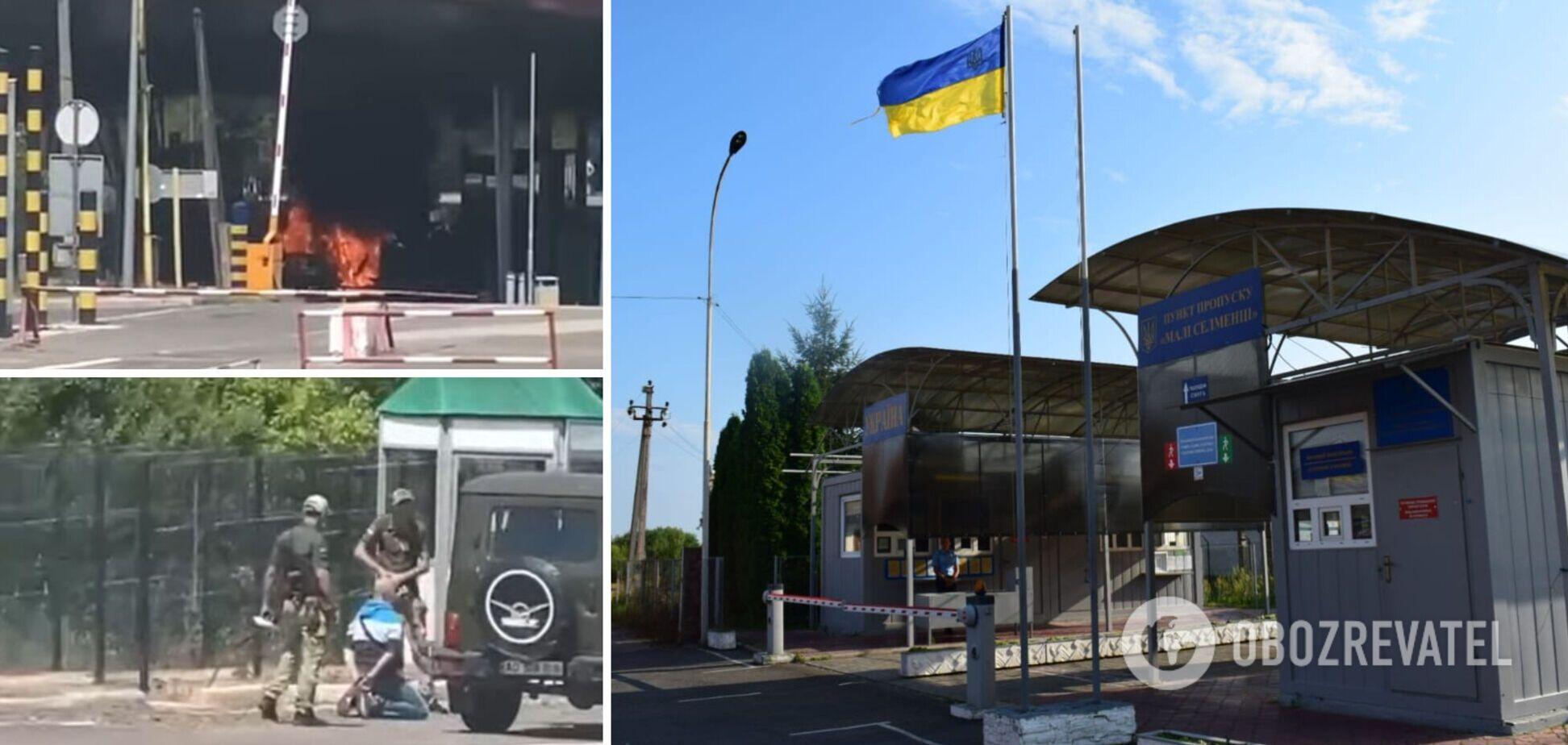 Мужчина сжег свою 'евробляху' в знак протеста против правил на украинской границе. Фото и видео
