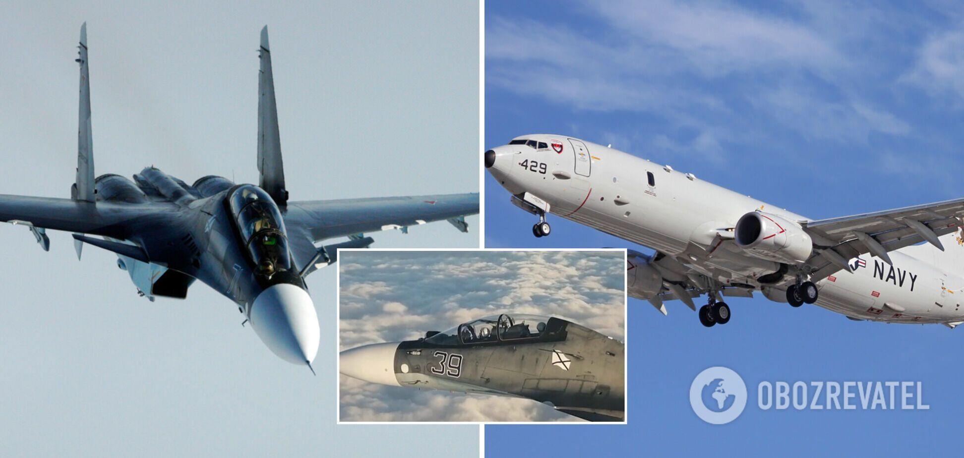 Россия направила боевые самолеты в Черное море против американского Boeing. Видео