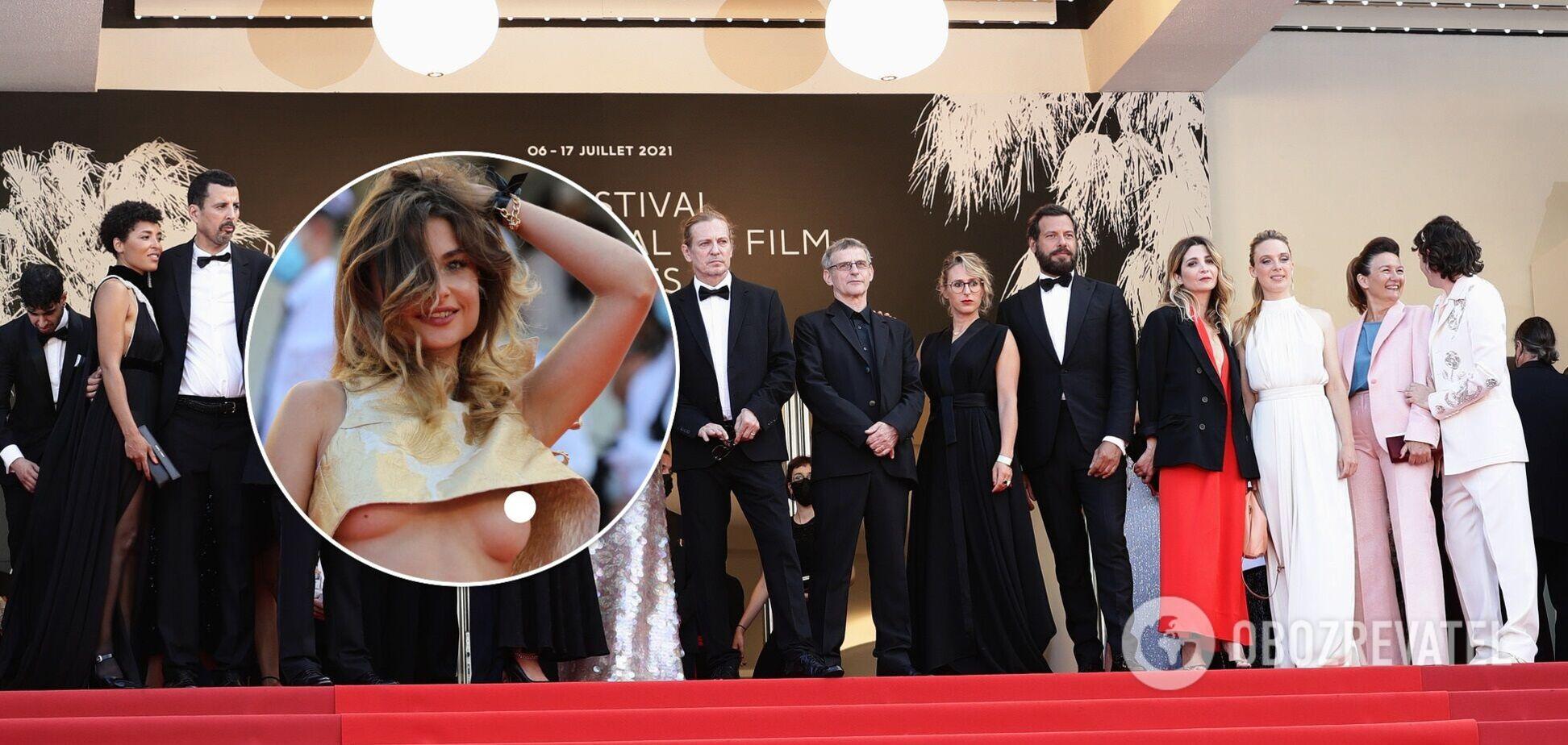 На відкриття Каннського кінофестивалю прийшла дівчина з голими грудьми