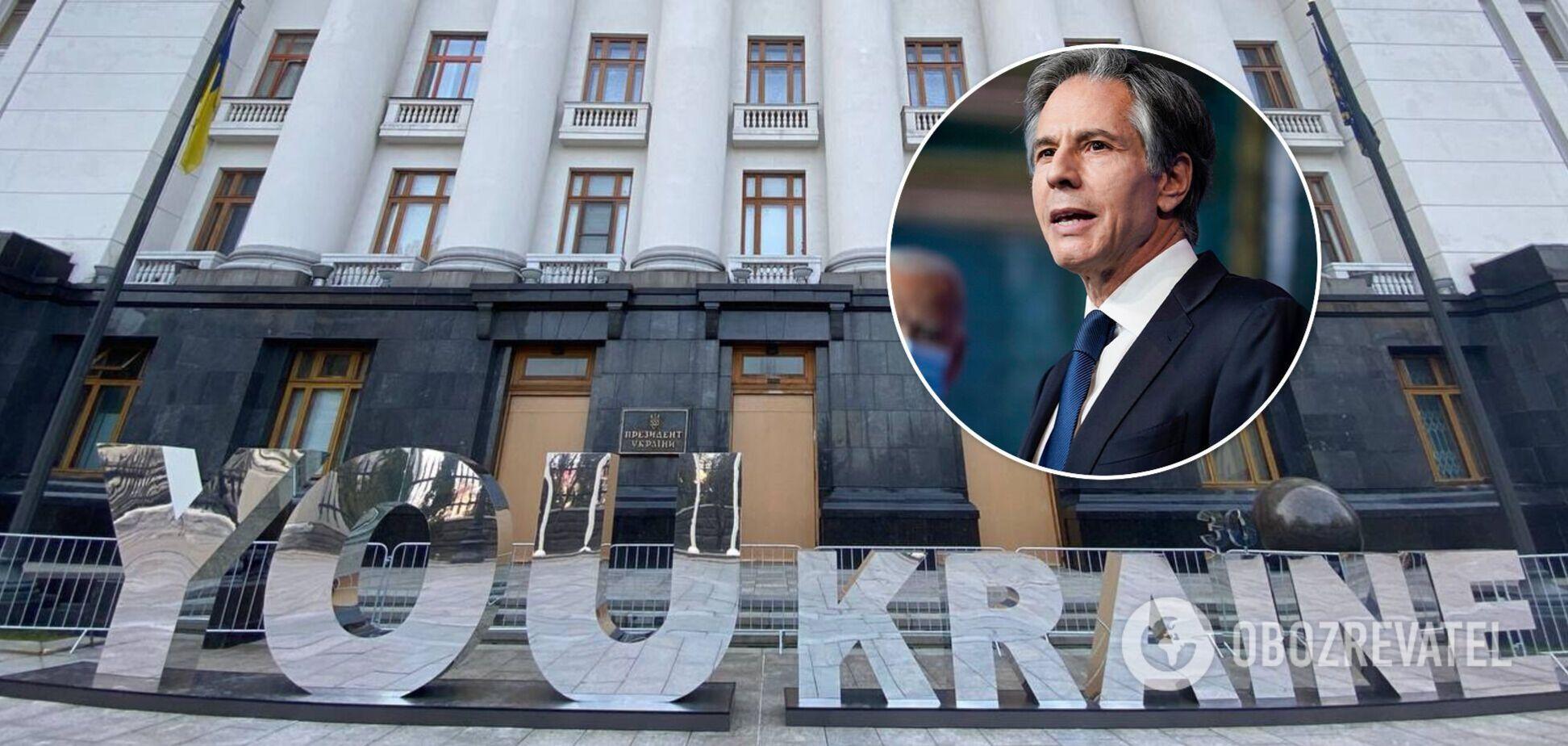 Блінкен назвав п'ять важливих кроків для України на шляху реформування