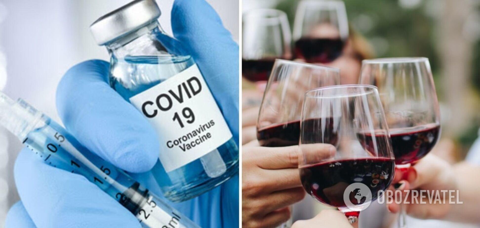 После получения вакцины COVID-19 не стоит употреблять алкоголь