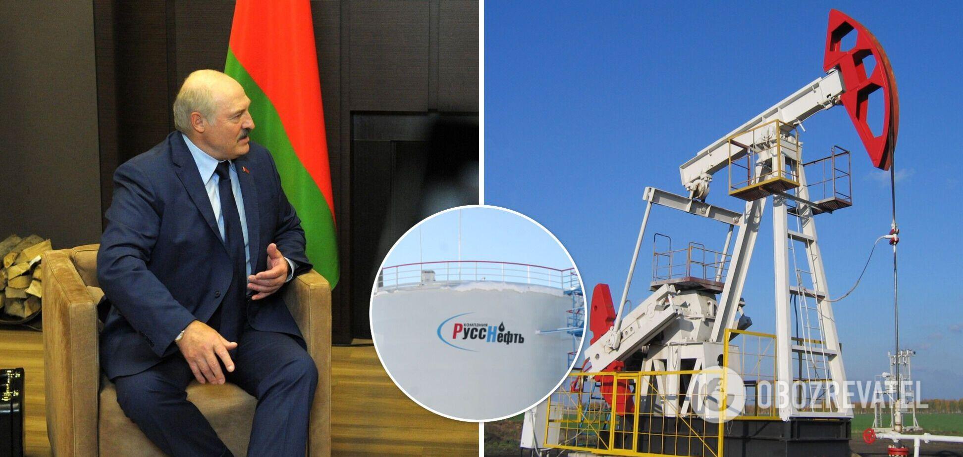 Санкции против Лукашенко помешали 'Русснефти'
