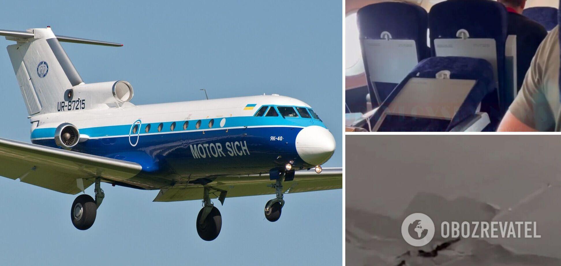 Пасажир показав на відео дірки в стелі і зламані крісла на борту літака Одеса-Київ