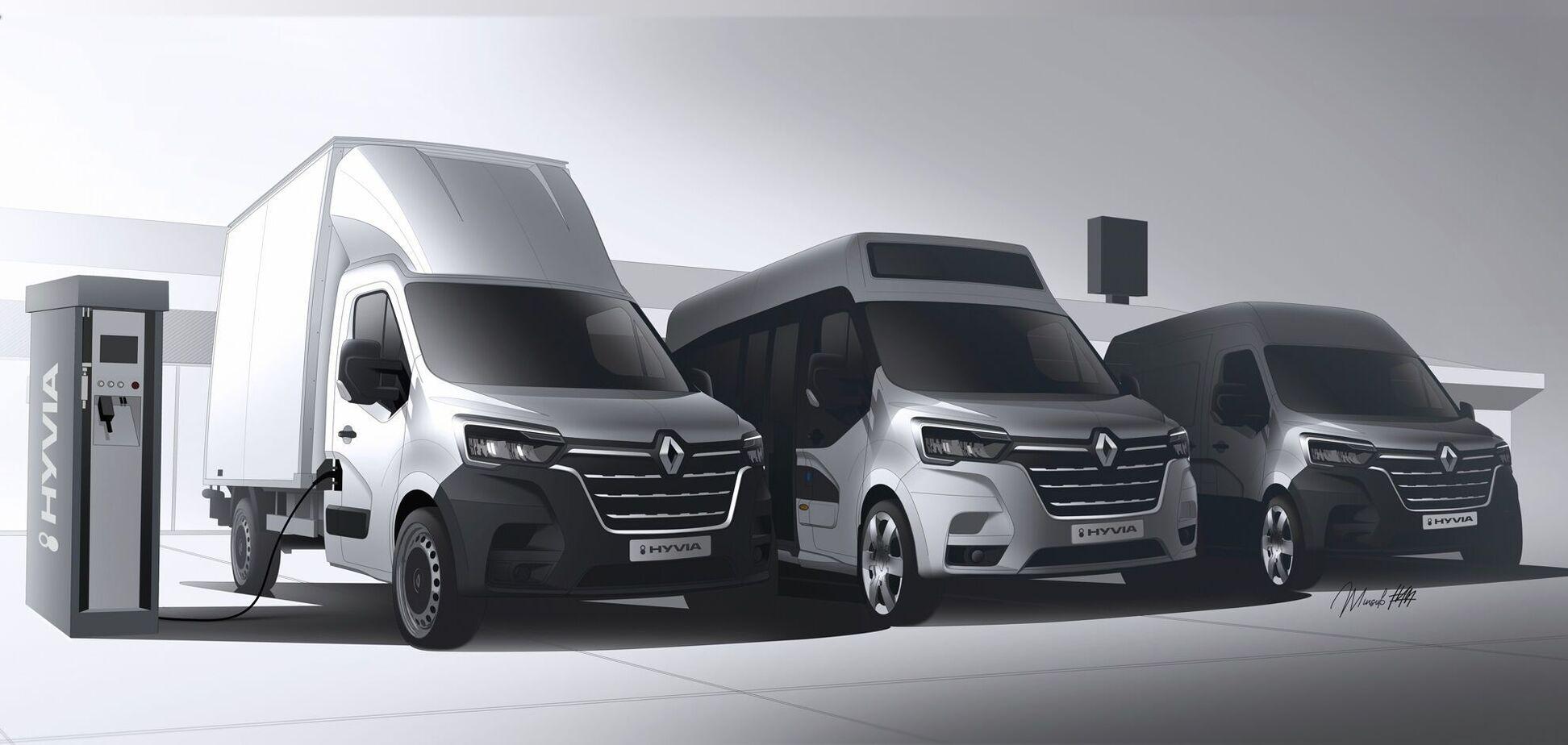 Renault анонсувала випуск водневих комерційних моделей