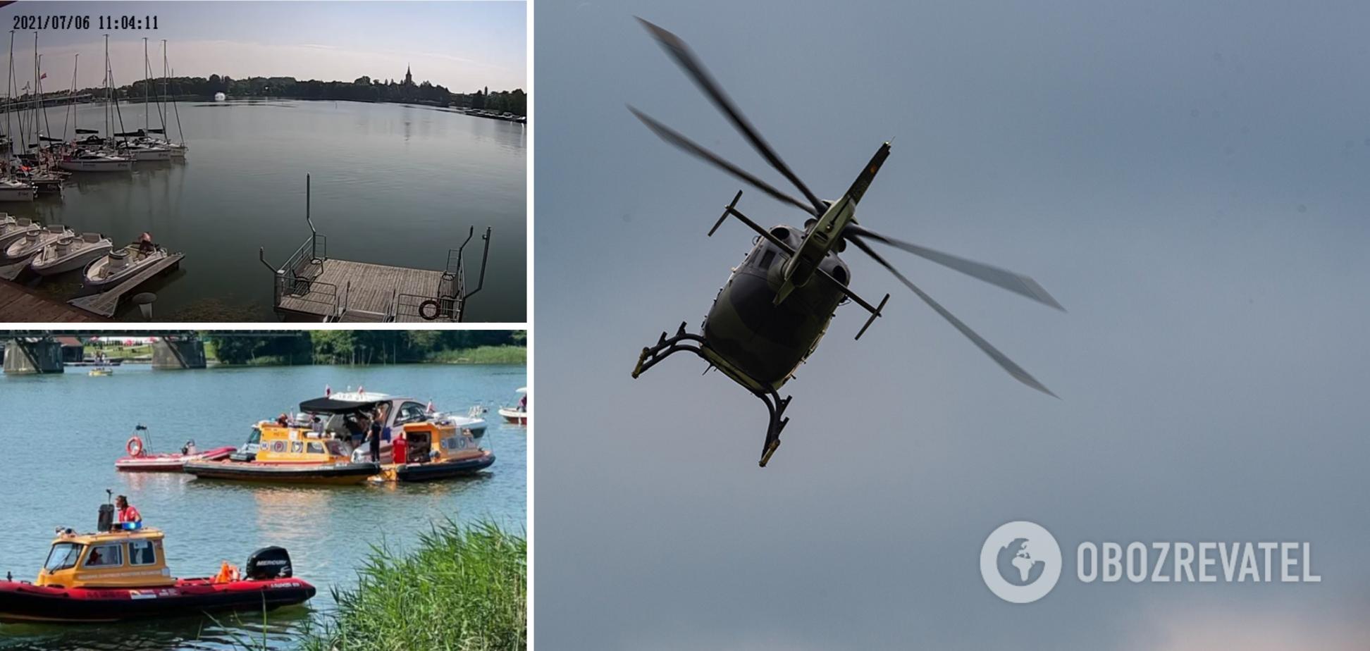 Появилось видео крушения вертолета в Польше с украинцами
