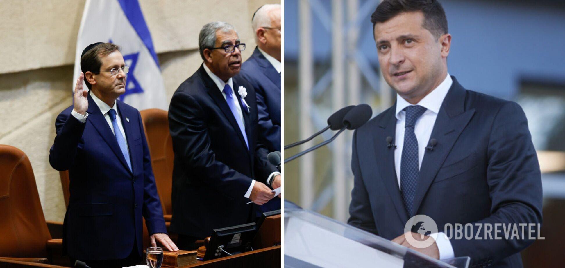 В Ізраїлі новим президентом став син старого: Зеленський привітав Герцога з інавгурацією. Фото