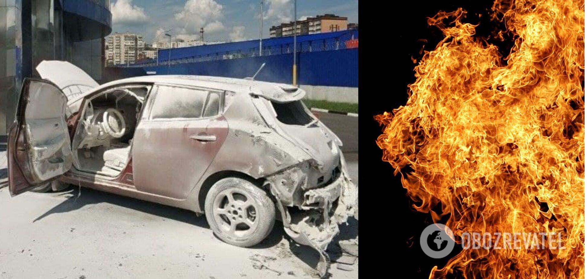 Автопожар в Хмельницком