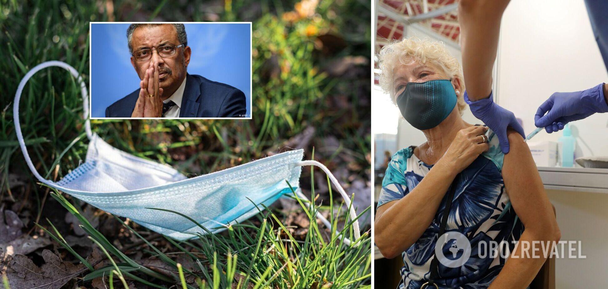 Глава ВОЗ упрекнул страны за отказ от противоэпидемических правил