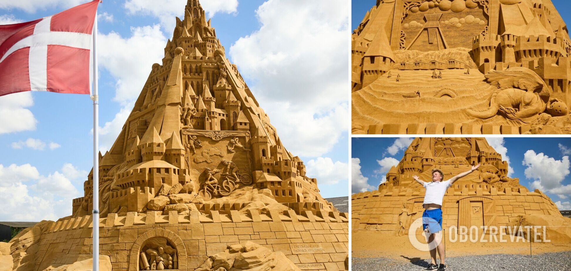 Для зведення було потрібно майже 5 тонн піску