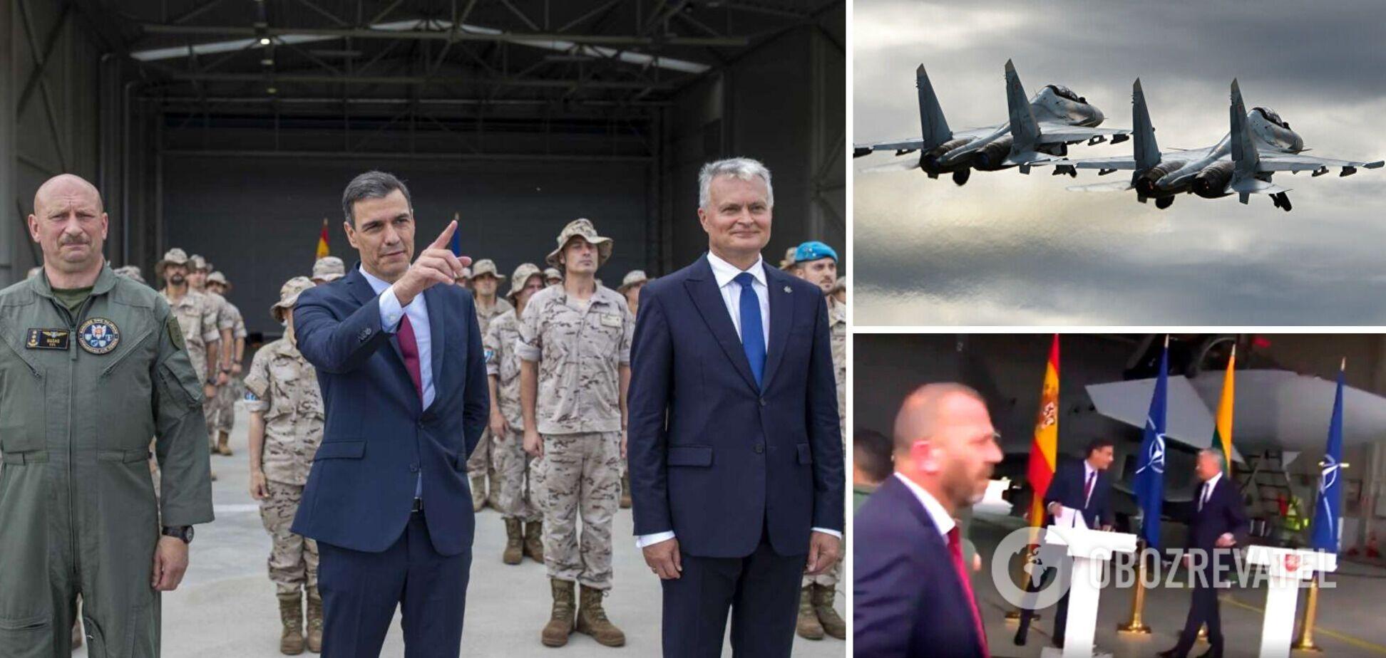 В Литве экстренно прервали брифинг политиков на базе НАТО из-за российских самолетов. Видео