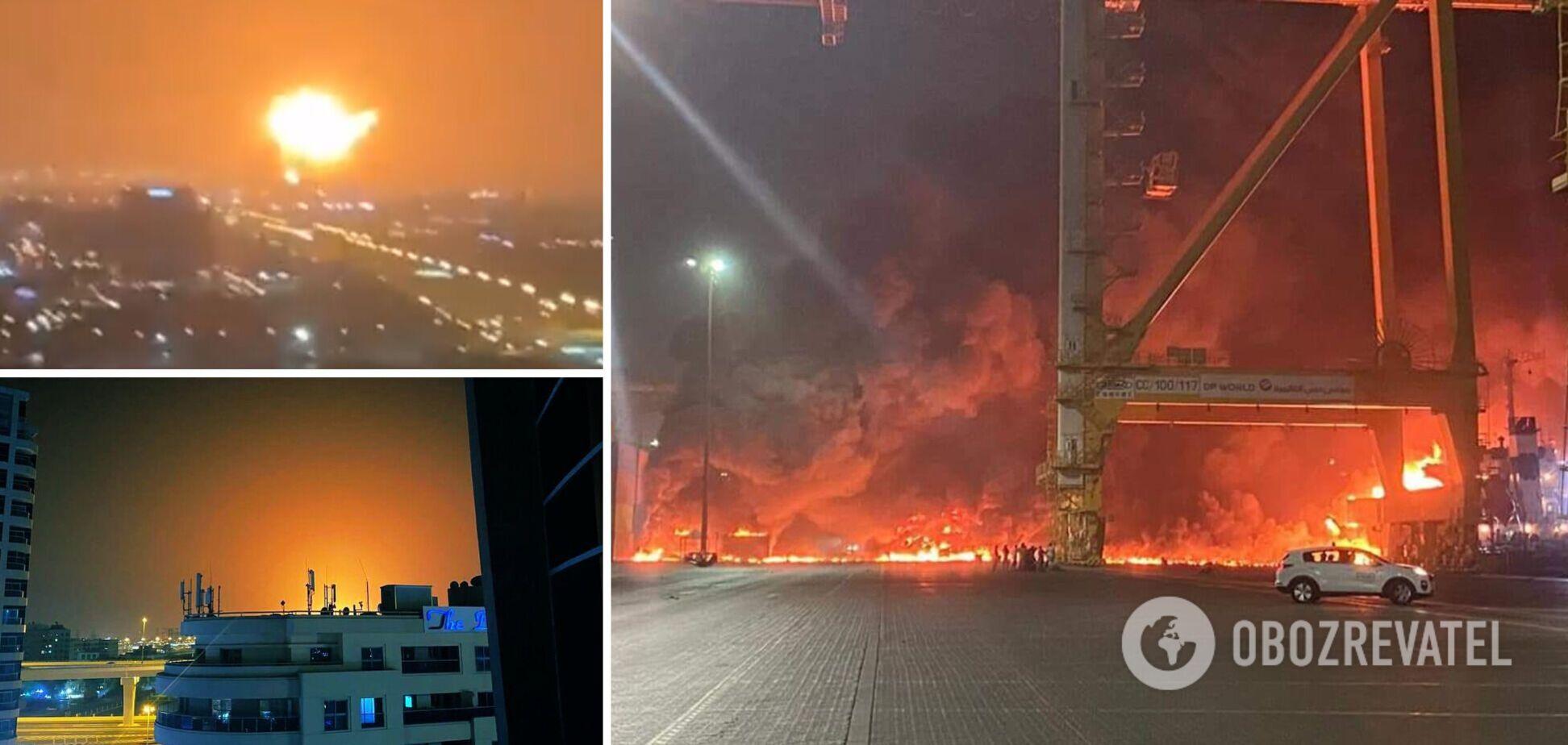 У порту Дубая прогримів потужний вибух. Фото та відео