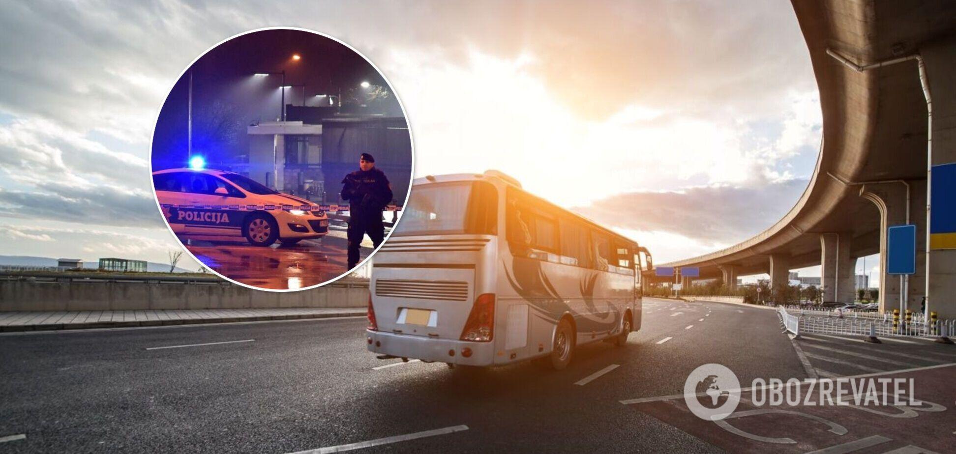 В Черногории автобус с украинцами задержали из-за фальшивых денег