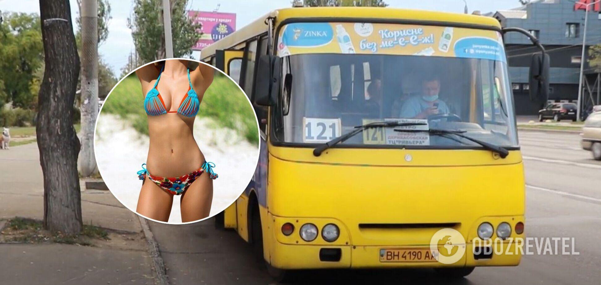 В Одесі в транспорті помітили 'голу' парочку: переплутали маршрутку з пляжем. Відео