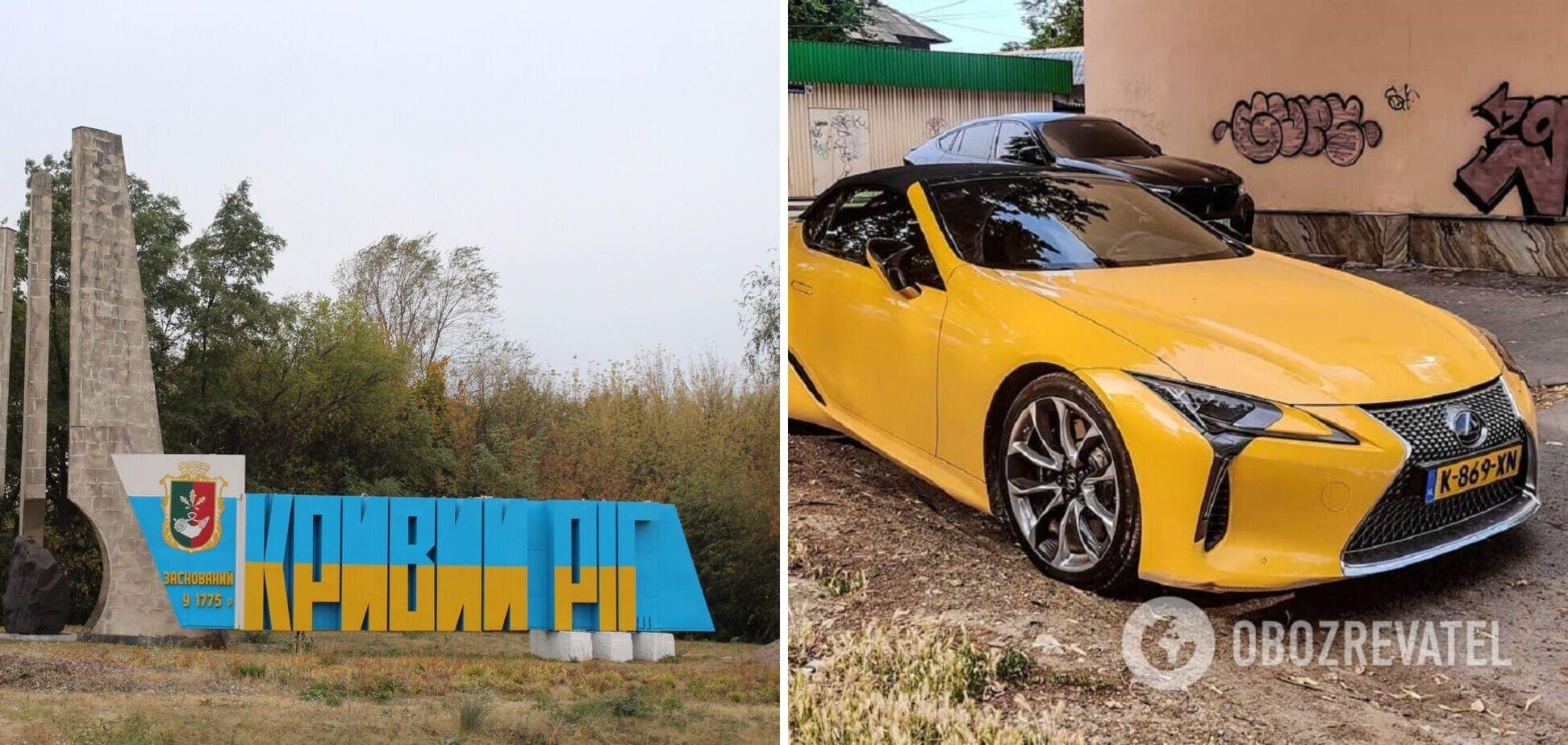 В Украине заметили новейший кабриолет Lexus на еврономерах. Фото