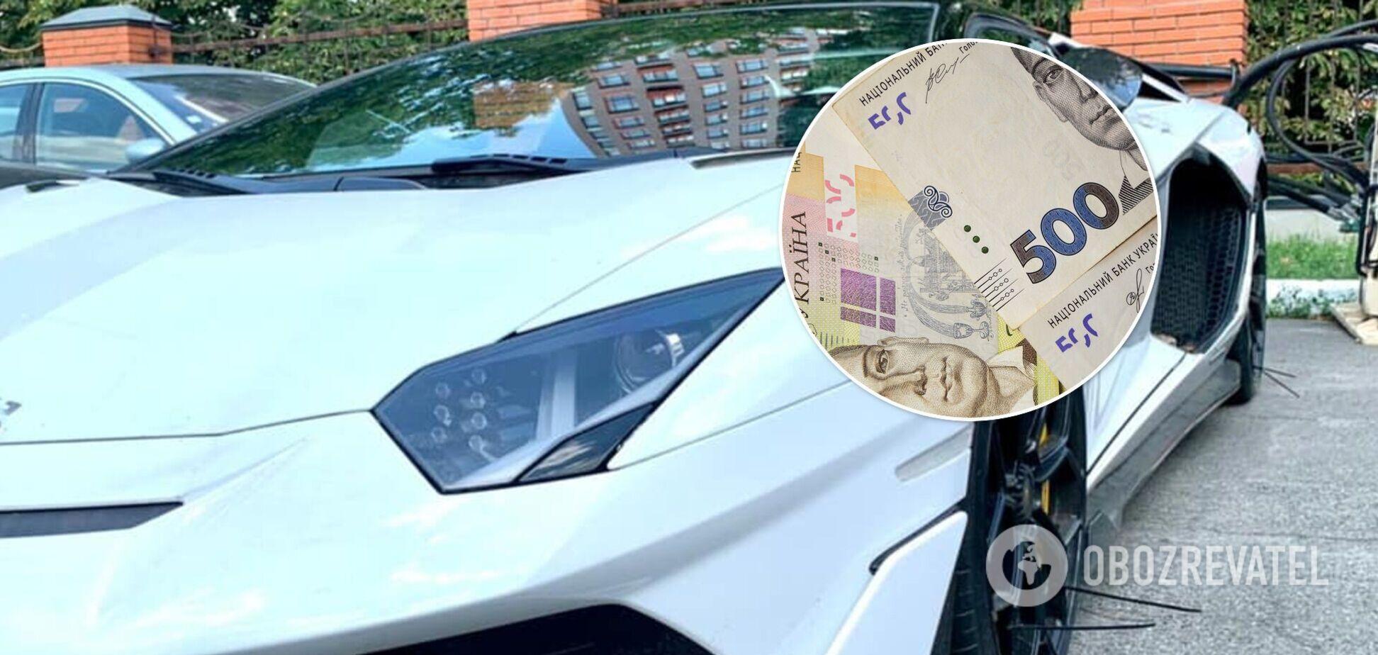 Власника елітного Lamborghini оштрафували на 170 тисяч через порушення правил ввезення