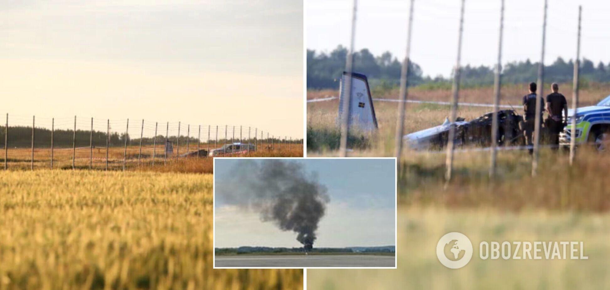 В Швеции разбился самолет с парашютистами: есть погибшие. Фото
