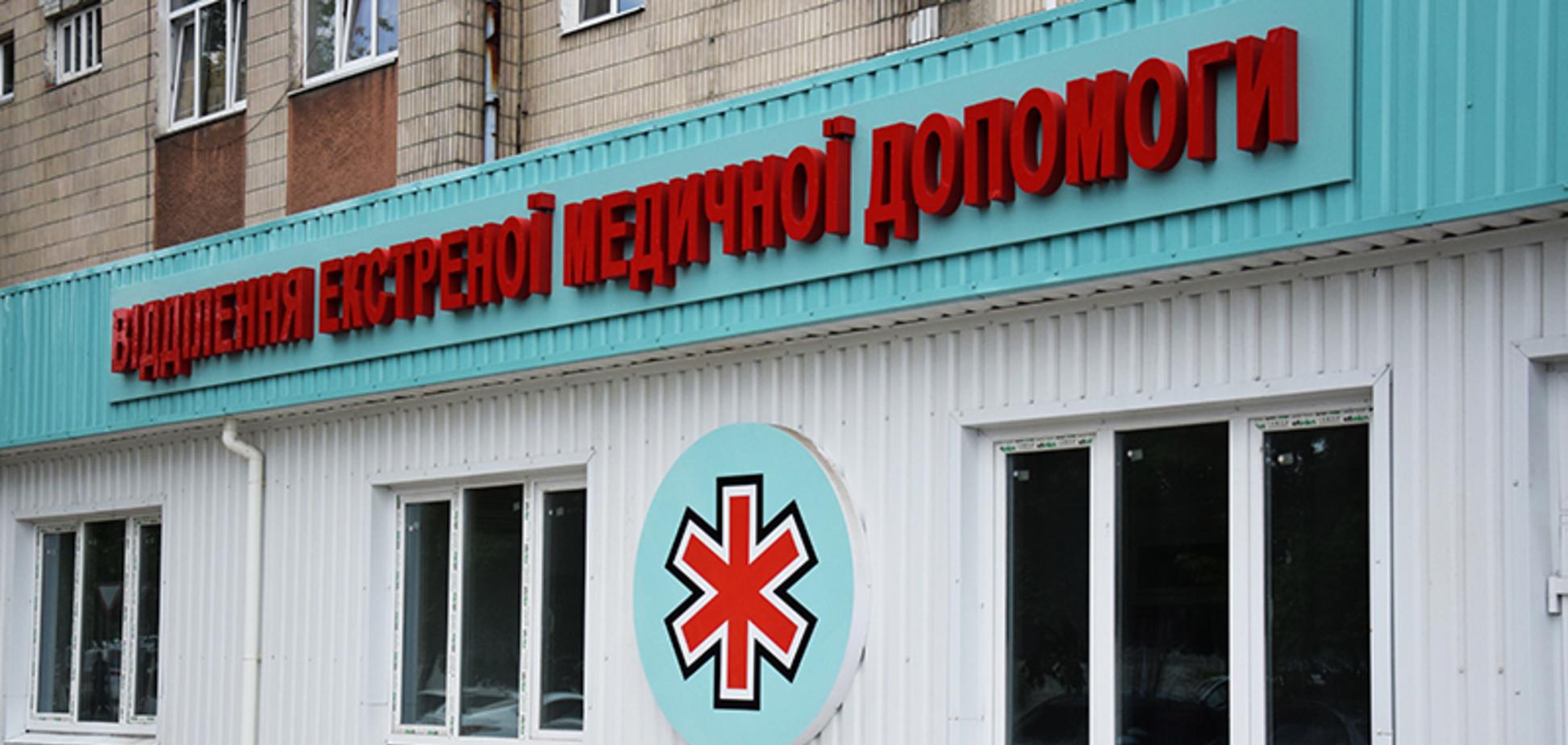 В Сумской центральной городской клинической больнице на 100% завершились работы по восстановлению приемного отделения