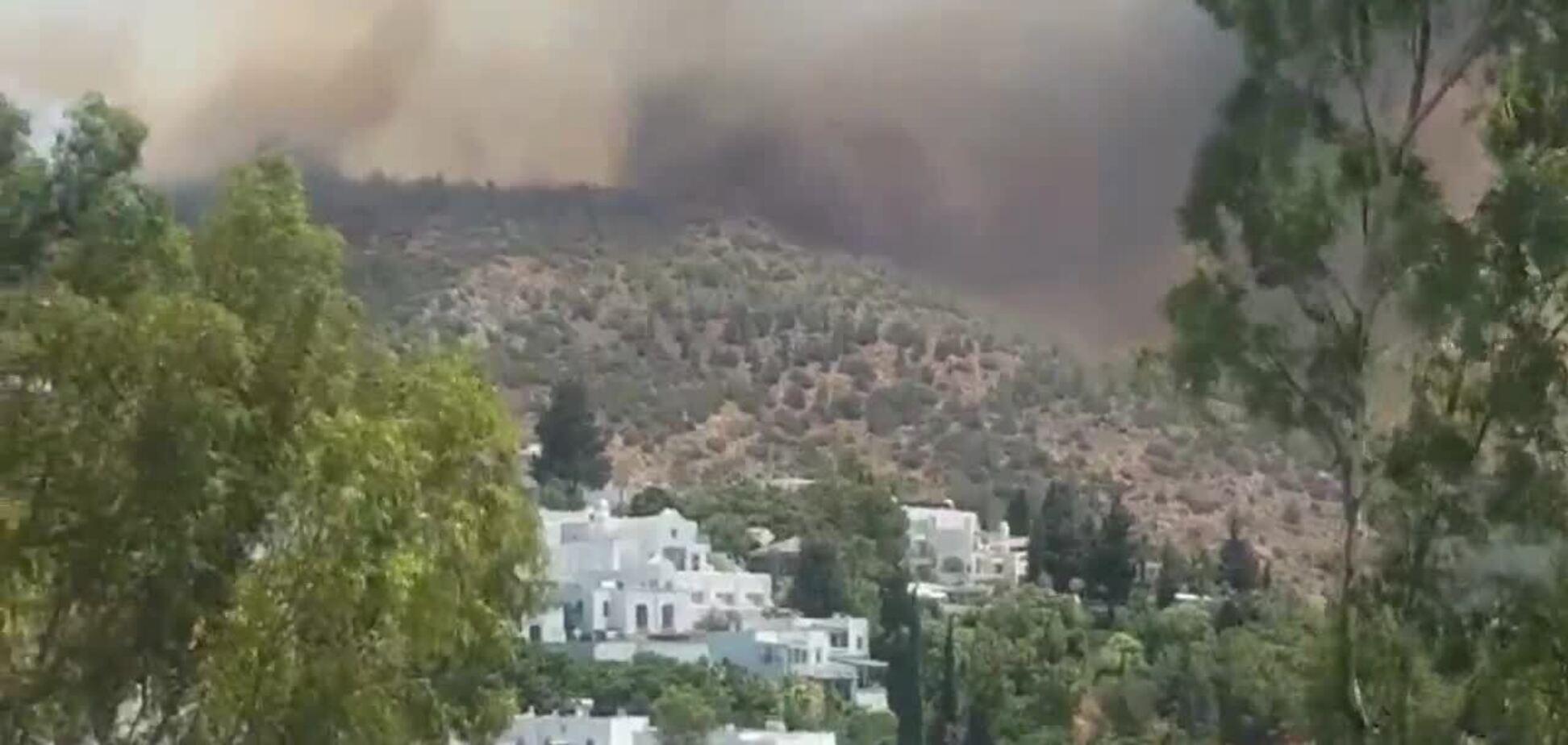 У Бодрумі гасять лісові пожежі