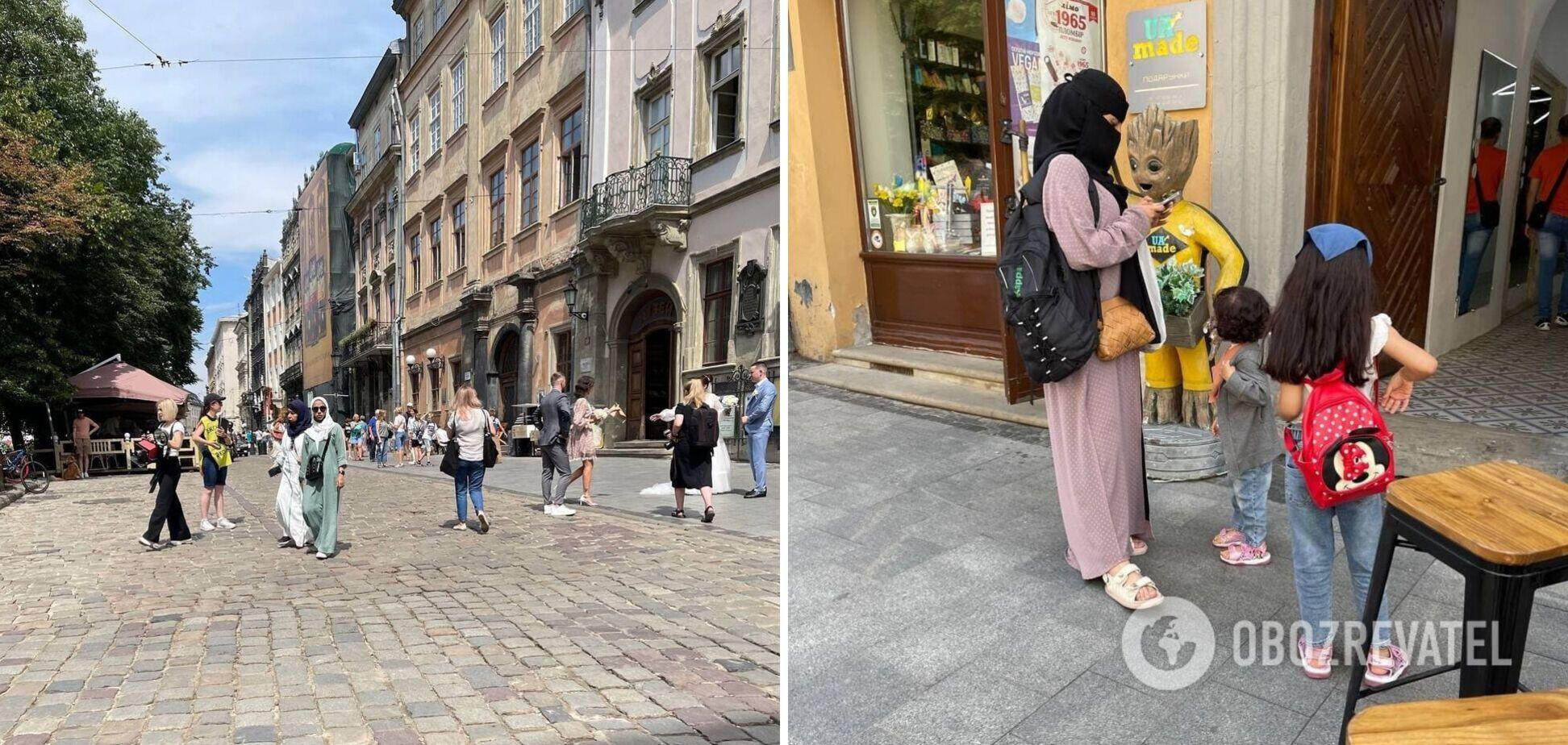 Туристи із Саудівської Аравії заполонили Львів. Фото