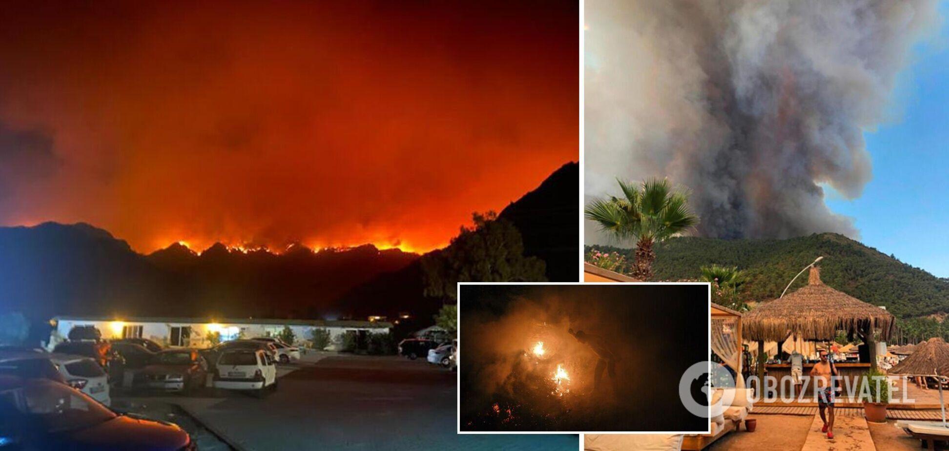 В Турции из-за масштабных пожаров эвакуировали туристов: деревья превращались в пепел, сгорели дома. Фото и видео