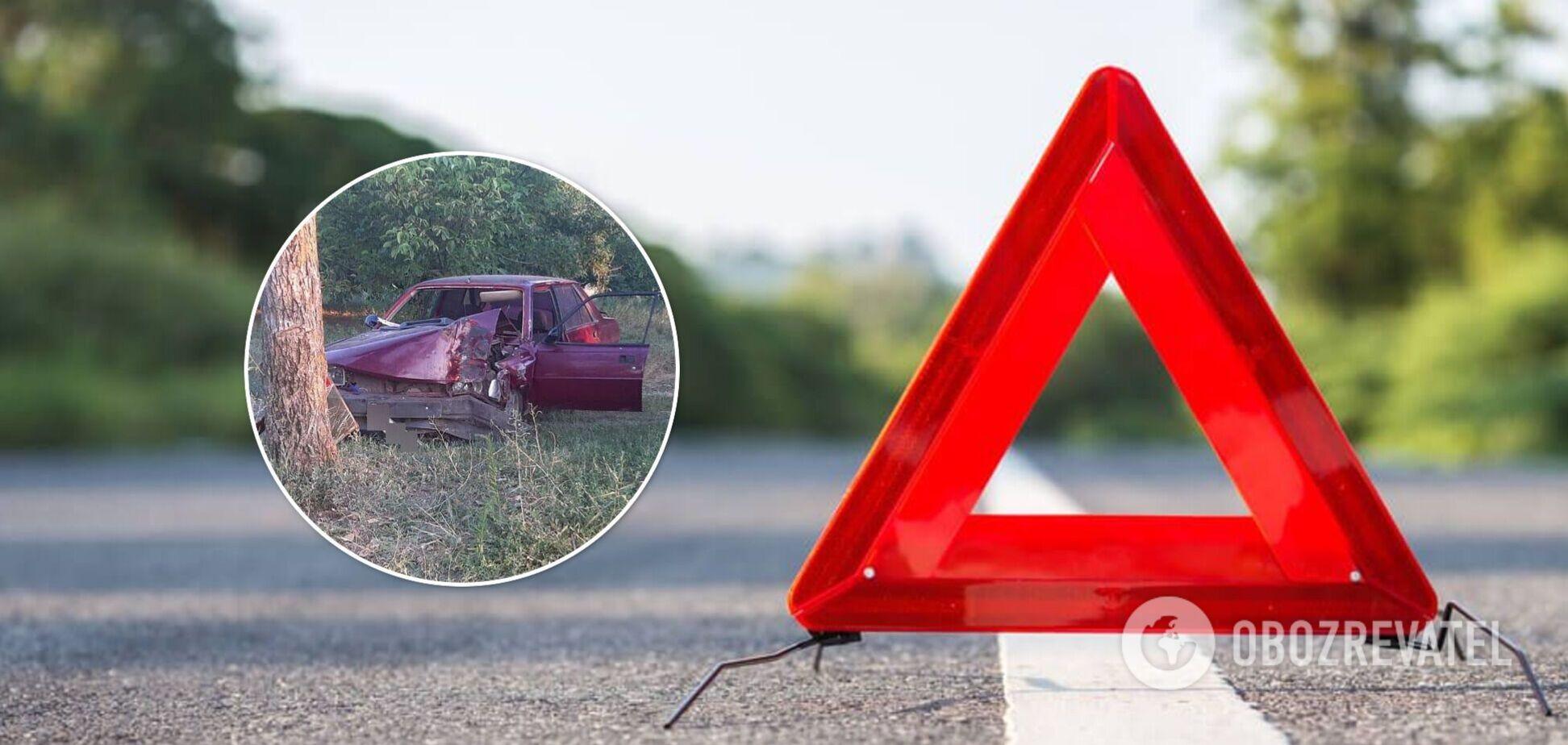 На Николаевщине легковушка врезалась в дерево: водитель погиб. Фото