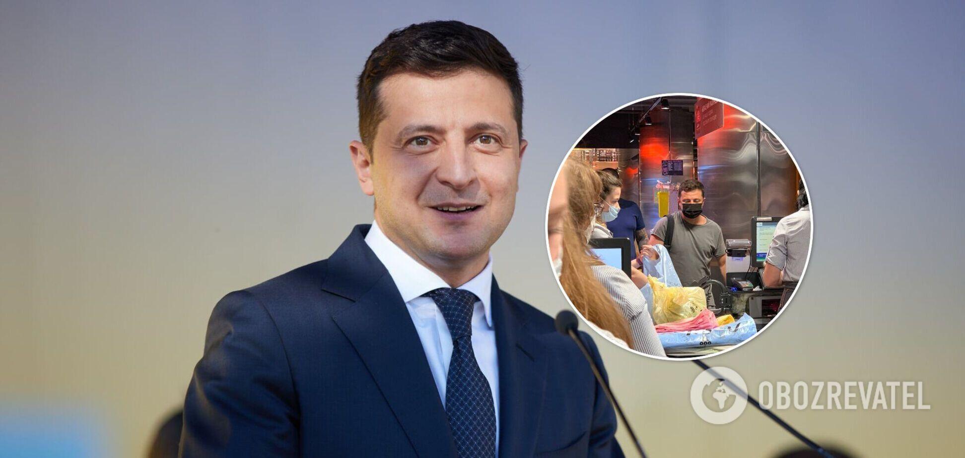Зеленского снова заметили в одном из супермаркетов Киева. Фото